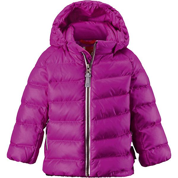 Куртка Minst для девочки ReimaОдежда<br>Куртка  Reima<br>Пуховая куртка для малышей. Водоотталкивающий, ветронепроницаемый, «дышащий» и грязеотталкивающий материал. Гладкая подкладка из полиэстра. В качестве утеплителя использованы пух и перо (60%/40%). Безопасный, съемный капюшон. Эластичные подол и манжеты. Карман на молнии. Безопасные светоотражающие элементы.<br>Уход:<br>Стирать по отдельности, вывернув наизнанку. Застегнуть молнии и липучки. Стирать моющим средством, не содержащим отбеливающие вещества. Полоскать без специального средства. Во избежание изменения цвета изделие необходимо вынуть из стиральной машинки незамедлительно после окончания программы стирки. Барабанное сушение при низкой температуре с 3 теннисными мячиками. Выверните изделие наизнанку в середине сушки.<br>Состав:<br>100% Полиэстер<br>Ширина мм: 356; Глубина мм: 10; Высота мм: 245; Вес г: 519; Цвет: розовый; Возраст от месяцев: 9; Возраст до месяцев: 12; Пол: Женский; Возраст: Детский; Размер: 80,74,98,86,92; SKU: 4776072;
