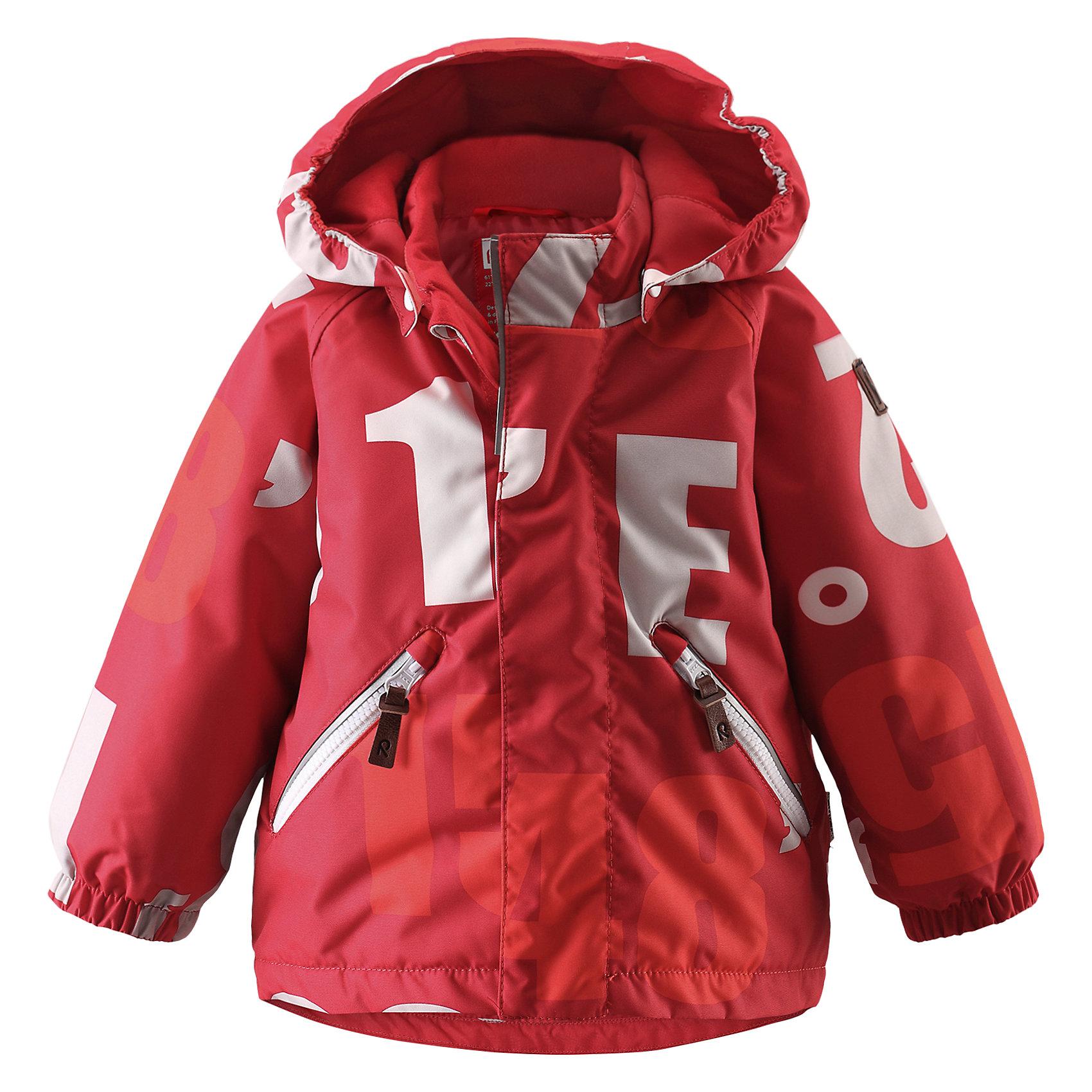Куртка Nappaa для мальчика ReimaОдежда<br>Куртка для мальчика Reima<br>Зимняя куртка для малышей. Основные швы проклеены и не пропускают влагу. Водо- и ветронепроницаемый, «дышащий» и грязеотталкивающий материал. Гладкая подкладка из полиэстра. Безопасный, съемный капюшон. Эластичные манжеты. Два кармана на молнии. Безопасные светоотражающие детали.<br>Утеплитель: Reima® Soft Loft insulation,160 g<br>Уход:<br>Стирать по отдельности, вывернув наизнанку. Застегнуть молнии и липучки. Стирать моющим средством, не содержащим отбеливающие вещества. Полоскать без специального средства. Во избежание изменения цвета изделие необходимо вынуть из стиральной машинки незамедлительно после окончания программы стирки. Сушить при низкой температуре.<br>Состав:<br>100% Полиамид, полиуретановое покрытие<br><br>Ширина мм: 356<br>Глубина мм: 10<br>Высота мм: 245<br>Вес г: 519<br>Цвет: красный<br>Возраст от месяцев: 9<br>Возраст до месяцев: 12<br>Пол: Мужской<br>Возраст: Детский<br>Размер: 80,98,92,86<br>SKU: 4776078