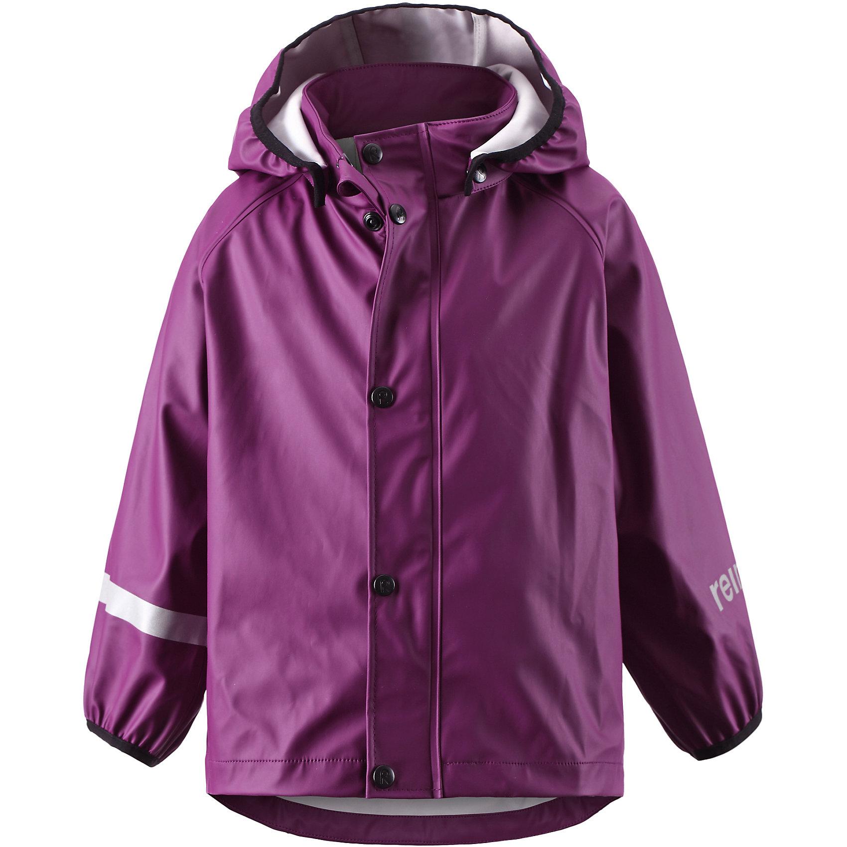 Плащ-дождевик Lampi для девочки ReimaПлащ-дождевик  Reima<br>Куртка-дождевик для детей. Запаянные швы, не пропускающие влагу. Эластичный материал. Без ПХВ. Безопасный, съемный капюшон. Эластичная резинка на кромке капюшона. Эластичные манжеты. Молния спереди. Безопасные светоотражающие детали. <br>Уход:<br>Стирать по отдельности, вывернув наизнанку. Застегнуть молнии и липучки. Стирать моющим средством, не содержащим отбеливающие вещества. Полоскать без специального средства. Во избежание изменения цвета изделие необходимо вынуть из стиральной машинки незамедлительно после окончания программы стирки. Сушить при низкой температуре.<br>Состав:<br>100% Полиамид, полиуретановое покрытие<br><br>Ширина мм: 356<br>Глубина мм: 10<br>Высота мм: 245<br>Вес г: 519<br>Цвет: фиолетовый<br>Возраст от месяцев: 108<br>Возраст до месяцев: 120<br>Пол: Женский<br>Возраст: Детский<br>Размер: 140,92,116,110,128,122,104,86,134,98<br>SKU: 4776382