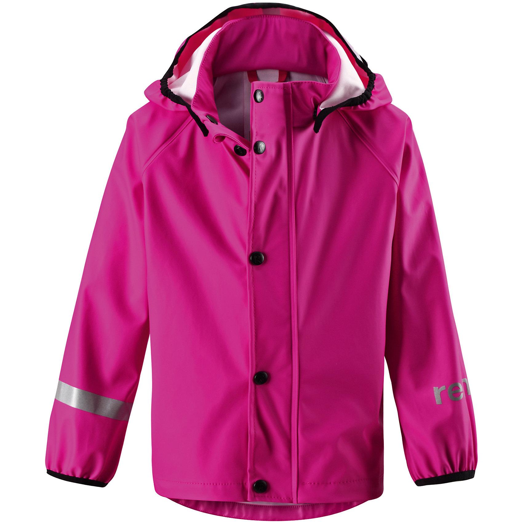 Плащ-дождевик Lampi для девочки ReimaПлащ-дождевик  Reima<br>Куртка-дождевик для детей. Запаянные швы, не пропускающие влагу. Эластичный материал. Без ПХВ. Безопасный, съемный капюшон. Эластичная резинка на кромке капюшона. Эластичные манжеты. Молния спереди. Безопасные светоотражающие детали. Отличный вариант для дождливой погоды.<br>Уход:<br>Стирать по отдельности, вывернув наизнанку. Застегнуть молнии и липучки. Стирать моющим средством, не содержащим отбеливающие вещества. Полоскать без специального средства. Во избежание изменения цвета изделие необходимо вынуть из стиральной машинки незамедлительно после окончания программы стирки. Сушить при низкой температуре.<br>Состав:<br>100% Полиамид, полиуретановое покрытие<br><br>Ширина мм: 356<br>Глубина мм: 10<br>Высота мм: 245<br>Вес г: 519<br>Цвет: розовый<br>Возраст от месяцев: 18<br>Возраст до месяцев: 24<br>Пол: Женский<br>Возраст: Детский<br>Размер: 92,86,134,110,128,116,122,140,98,104<br>SKU: 4776415
