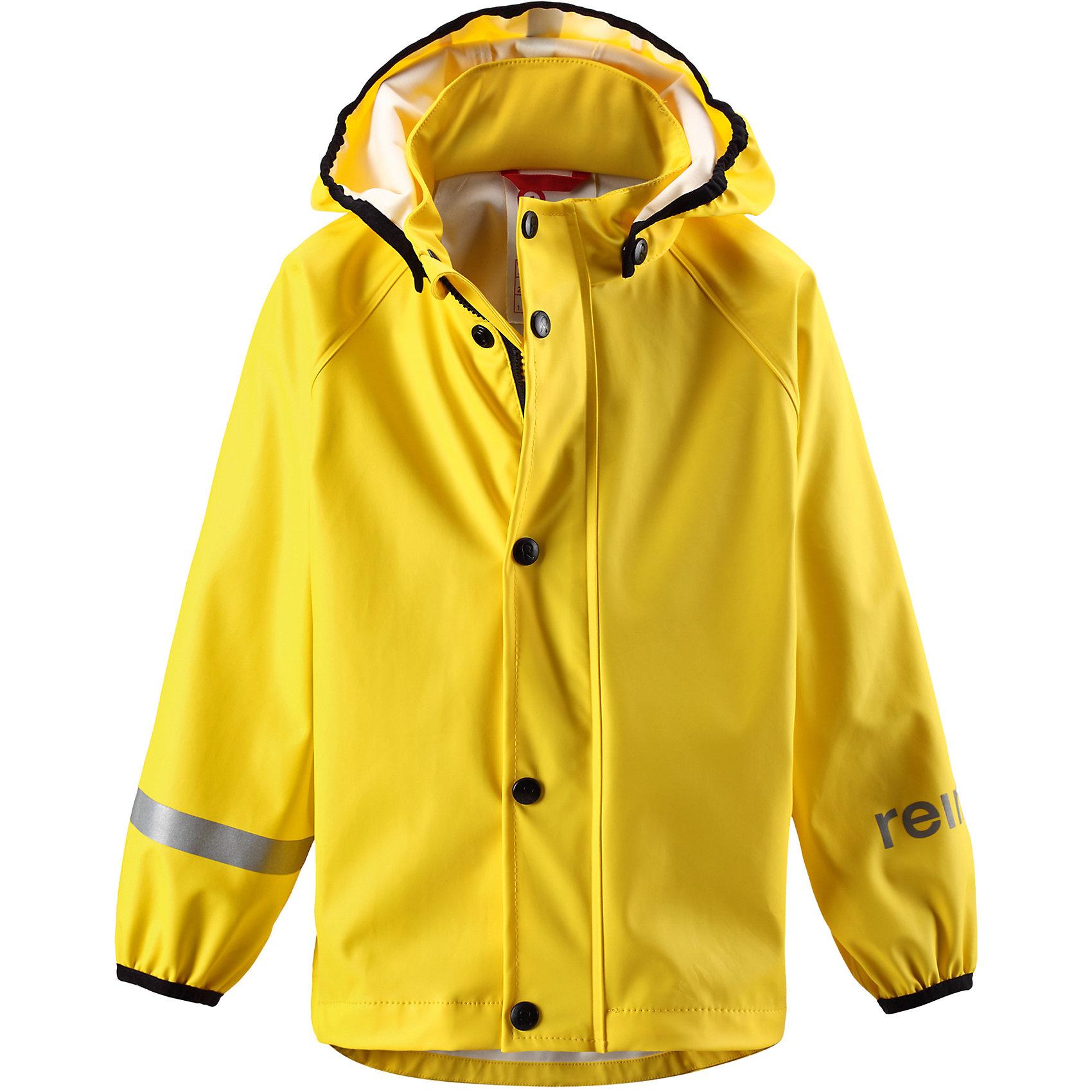 Плащ-дождевик Lampi ReimaВерхняя одежда<br>Плащ-дождевик  Reima<br>Куртка-дождевик для детей. Запаянные швы, не пропускающие влагу. Эластичный материал. Без ПХВ. Безопасный, съемный капюшон. Эластичная резинка на кромке капюшона. Эластичные манжеты. Молния спереди. Безопасные светоотражающие детали. Отличный вариант для дождливой погоды.<br>Уход:<br>Стирать по отдельности, вывернув наизнанку. Застегнуть молнии и липучки. Стирать моющим средством, не содержащим отбеливающие вещества. Полоскать без специального средства. Во избежание изменения цвета изделие необходимо вынуть из стиральной машинки незамедлительно после окончания программы стирки. Сушить при низкой температуре.<br>Состав:<br>100% Полиамид, полиуретановое покрытие<br><br>Ширина мм: 356<br>Глубина мм: 10<br>Высота мм: 245<br>Вес г: 519<br>Цвет: желтый<br>Возраст от месяцев: 60<br>Возраст до месяцев: 72<br>Пол: Унисекс<br>Возраст: Детский<br>Размер: 116,92,140,86,98,134,128,122,110,104<br>SKU: 4776426