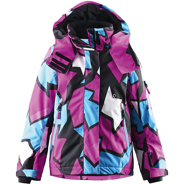 Куртка Roxana для девочки Reimatec® ReimaОдежда<br>Куртка для девочки Reimatec® Reima<br>Зимняя куртка для детей. Все швы проклеены и водонепроницаемы. Водо- и ветронепроницаемый «дышащий» материал. Крой для девочек. Гладкая подкладка из полиэстра. Безопасный, отстегивающийся и регулируемый капюшон. Регулируемые манжеты и внутренние манжеты из лайкры. Регулируемый подол, снегозащитный манжет на талии. Новая усовершенствованная молния — больше не застревает! Карман для очков и внутренний нагрудный карман. Карманы на молнии. Карман на рукаве с пластинчатым разъемом для датчика ReimaGO®. Принт по всей поверхности.<br>Утеплитель: Reima® Flex insulation,140 g<br>Уход:<br>Стирать по отдельности, вывернув наизнанку. Застегнуть молнии и липучки. Стирать моющим средством, не содержащим отбеливающие вещества. Полоскать без специального средства. Во избежание изменения цвета изделие необходимо вынуть из стиральной машинки незамедлительно после окончания программы стирки. Можно сушить в сушильном шкафу или центрифуге (макс. 40° C).<br>Состав:<br>100% Полиамид, полиуретановое покрытие<br><br>Ширина мм: 356<br>Глубина мм: 10<br>Высота мм: 245<br>Вес г: 519<br>Цвет: розовый<br>Возраст от месяцев: 84<br>Возраст до месяцев: 96<br>Пол: Женский<br>Возраст: Детский<br>Размер: 128,140,116,98,110,92,122,104,134<br>SKU: 4776480