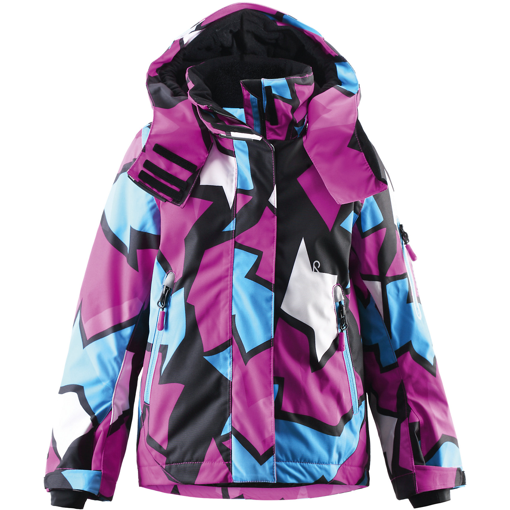 Куртка Roxana для девочки Reimatec® ReimaОдежда<br>Куртка для девочки Reimatec® Reima<br>Зимняя куртка для детей. Все швы проклеены и водонепроницаемы. Водо- и ветронепроницаемый «дышащий» материал. Крой для девочек. Гладкая подкладка из полиэстра. Безопасный, отстегивающийся и регулируемый капюшон. Регулируемые манжеты и внутренние манжеты из лайкры. Регулируемый подол, снегозащитный манжет на талии. Новая усовершенствованная молния — больше не застревает! Карман для очков и внутренний нагрудный карман. Карманы на молнии. Карман на рукаве с пластинчатым разъемом для датчика ReimaGO®. Принт по всей поверхности.<br>Утеплитель: Reima® Flex insulation,140 g<br>Уход:<br>Стирать по отдельности, вывернув наизнанку. Застегнуть молнии и липучки. Стирать моющим средством, не содержащим отбеливающие вещества. Полоскать без специального средства. Во избежание изменения цвета изделие необходимо вынуть из стиральной машинки незамедлительно после окончания программы стирки. Можно сушить в сушильном шкафу или центрифуге (макс. 40° C).<br>Состав:<br>100% Полиамид, полиуретановое покрытие<br><br>Ширина мм: 356<br>Глубина мм: 10<br>Высота мм: 245<br>Вес г: 519<br>Цвет: розовый<br>Возраст от месяцев: 24<br>Возраст до месяцев: 36<br>Пол: Женский<br>Возраст: Детский<br>Размер: 98,110,92,128,122,134,140,104,116<br>SKU: 4776480