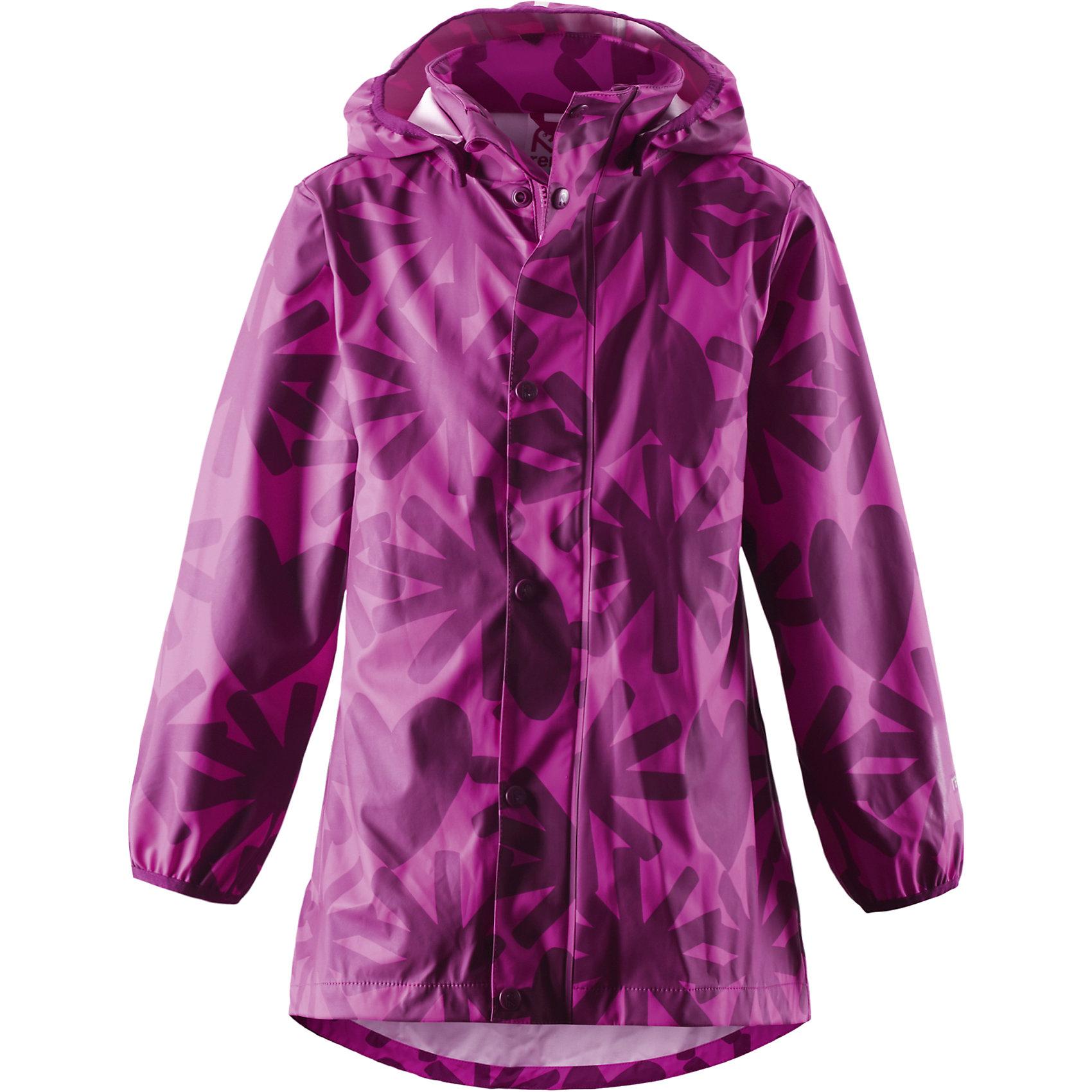 Плащ-дождевик Kaste для девочки ReimaПлащ-дождевик для девочки Reima<br>Куртка-дождевик для детей. Запаянные швы, не пропускающие влагу. Эластичный материал. Без ПХВ. Безопасный, съемный капюшон. Эластичная резинка на кромке капюшона. Эластичные манжеты. Трапециевидная форма с удлиненным сзади подолом. Молния спереди. Принт по всей поверхности. Безопасные светоотражающие детали. Отличный вариант для дождливой погоды.<br>Уход:<br>Стирать по отдельности, вывернув наизнанку. Застегнуть молнии и липучки. Стирать моющим средством, не содержащим отбеливающие вещества. Полоскать без специального средства. Во избежание изменения цвета изделие необходимо вынуть из стиральной машинки незамедлительно после окончания программы стирки. Сушить при низкой температуре.<br>Состав:<br>100% Полиамид, полиуретановое покрытие<br><br>Ширина мм: 356<br>Глубина мм: 10<br>Высота мм: 245<br>Вес г: 519<br>Цвет: розовый<br>Возраст от месяцев: 108<br>Возраст до месяцев: 120<br>Пол: Женский<br>Возраст: Детский<br>Размер: 140,110,116,128,122,104,134<br>SKU: 4776500