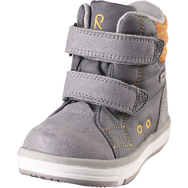 Ботинки Patter Reimatec® ReimaОбувь<br>Ботинки  Reimatec® Reima<br>Кроссовки для малышей. Водонепроницаемая демисезонная обувь. Подошва Reima® из термопластичного каучука с рисунком Happy Fit. Водонепроницаемые, герметичные вставки с подкладкой из mesh-сетки. Съемные стельки с рисунком Happy Fit, которые помогают определить размер. Можно стирать в машине при температуре 30 °C. Простая застежка на липучке, имеющая две точки крепления. Светоотражающие детали.<br>Уход:<br>Храните обувь в вертикальном положении при комнатной температуре. Сушить обувь всегда следует при комнатной температуре: вынув съемные стельки. Стельки следует время от времени заменять на новые. Налипшую грязь можно счищать щеткой или влажной тряпкой. Перед использованием обувь рекомендуется обрабатывать специальными защитными средствами.<br>Состав:<br>Подошва: Термопластиковая резина, Верх: 80% Брезент 20% ПУ<br><br>Ширина мм: 262<br>Глубина мм: 176<br>Высота мм: 97<br>Вес г: 427<br>Цвет: серый<br>Возраст от месяцев: 48<br>Возраст до месяцев: 60<br>Пол: Унисекс<br>Возраст: Детский<br>Размер: 28,25,22,27,29,21,26,23,24,30,20<br>SKU: 4776548