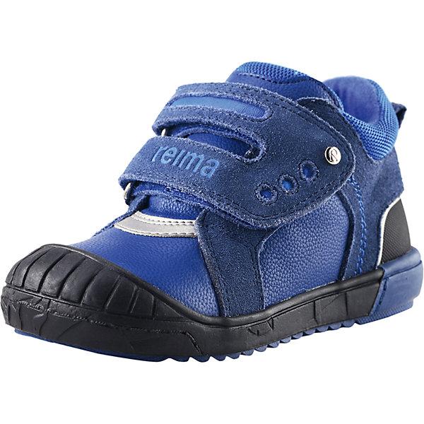 Ботинки Bremen  Reimatec® Reima для мальчикаОбувь<br>Ботинки  Reimatec® Reima<br>Обувь для малышей. Верх из натуральной замши (из телячьей кожи) и синтетического материала. Подошва из термопластичного каучука обеспечивает хорошее сцепление с поверхностью .Текстильная подкладка. Съемные стельки с рисунком Happy Fit, которые помогают определить размер. Застежки на липучках обеспечивают простоту использования. Светоотражающие детали.<br>Уход:<br>Храните обувь в вертикальном положении при комнатной температуре. Сушить обувь всегда следует при комнатной температуре: вынув съемные стельки. Стельки следует время от времени заменять на новые. Налипшую грязь можно счищать щеткой или влажной тряпкой. Перед использованием обувь рекомендуется обрабатывать специальными защитными средствами.<br>Состав:<br>Подошва: 100% термопластичная резина, Верх: 40% ПУ, 50% Кожа, 10% ПЭ<br>Ширина мм: 262; Глубина мм: 176; Высота мм: 97; Вес г: 427; Цвет: синий; Возраст от месяцев: 9; Возраст до месяцев: 12; Пол: Мужской; Возраст: Детский; Размер: 27,24,26,28,21,22,20,23,25; SKU: 4776570;