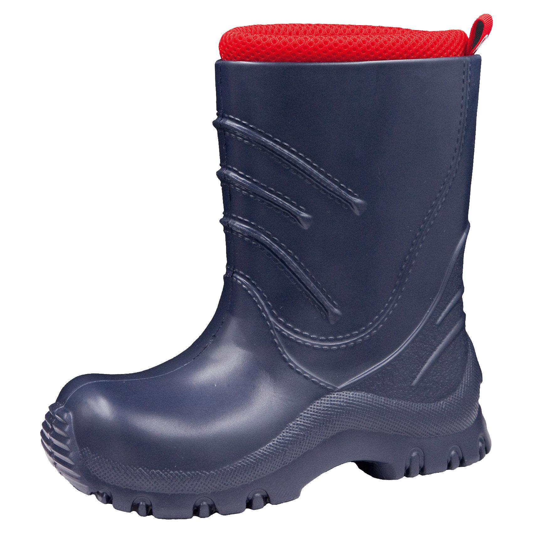 Резиновые сапоги  для мальчика Frillo Reimatec® ReimaОбувь<br>Резиновые сапоги  Reimatec® Reima<br>Резиновые сапоги для детей и малышей. Водонепроницаемая демисезонная обувь. Эластичная и легкая подошва из ЭВА. Текстильная подкладка. Съемный носок. Легко надеваются на ноги. Без ПХВ.<br>Уход:<br>Храните обувь в вертикальном положении при комнатной температуре. Сушить обувь всегда следует при комнатной температуре: вынув съемные стельки. Стельки следует время от времени заменять на новые. Налипшую грязь можно счищать щеткой или влажной тряпкой. Перед использованием обувь рекомендуется обрабатывать специальными защитными средствами.<br>Состав:<br>Подошва: 100% EVA, Верх: 100% EVA<br><br>Ширина мм: 237<br>Глубина мм: 180<br>Высота мм: 152<br>Вес г: 438<br>Цвет: синий<br>Возраст от месяцев: 72<br>Возраст до месяцев: 84<br>Пол: Мужской<br>Возраст: Детский<br>Размер: 30,28,26,24,32,22,34<br>SKU: 4776640