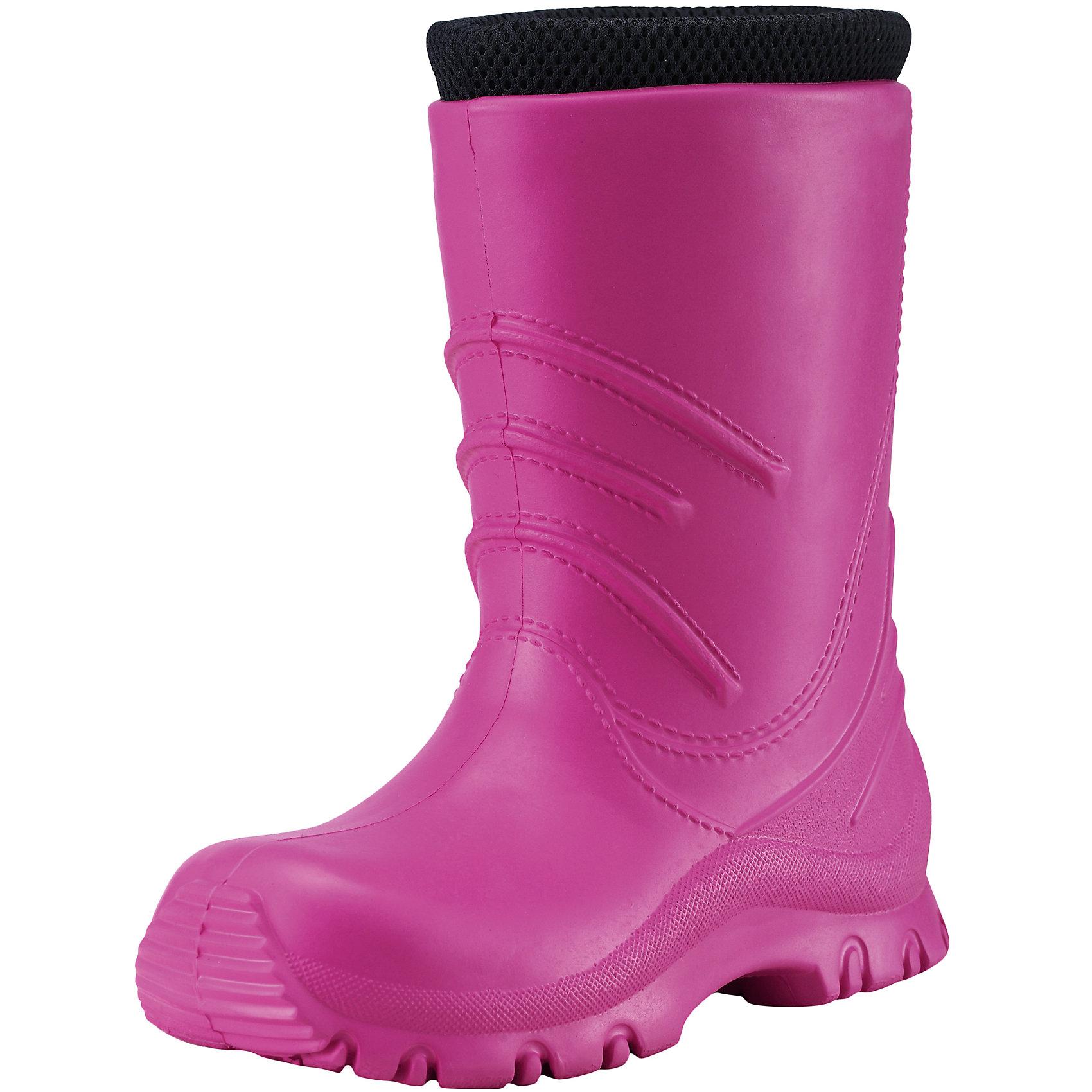 Резиновые сапоги Frillo Reimatec® ReimaРезиновые сапоги<br>Резиновые сапоги  Reimatec® Reima<br>Резиновые сапоги для детей и малышей. Водонепроницаемая демисезонная обувь. Эластичная и легкая подошва из ЭВА. Текстильная подкладка. Съемный носок. Легко надеваются на ноги. Без ПХВ.<br>Уход:<br>Храните обувь в вертикальном положении при комнатной температуре. Сушить обувь всегда следует при комнатной температуре: вынув съемные стельки. Стельки следует время от времени заменять на новые. Налипшую грязь можно счищать щеткой или влажной тряпкой. Перед использованием обувь рекомендуется обрабатывать специальными защитными средствами.<br>Состав:<br>Подошва: 100% EVA, Верх: 100% EVA<br><br>Ширина мм: 237<br>Глубина мм: 180<br>Высота мм: 152<br>Вес г: 438<br>Цвет: розовый<br>Возраст от месяцев: 72<br>Возраст до месяцев: 84<br>Пол: Женский<br>Возраст: Детский<br>Размер: 30,28,24,32,34,22,26<br>SKU: 4776648