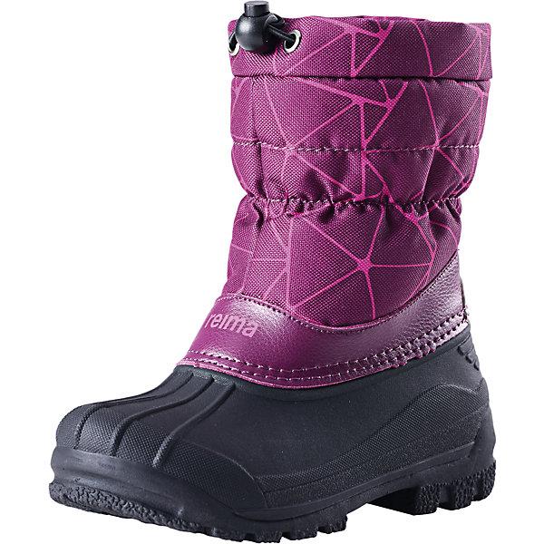 Ботинки Nefar  Reima для девочкиОбувь<br>Ботинки  Reimatec® Reima<br>Теплые сапоги для детей и малышей. Водоотталкивающая зимняя обувь с резиновыми галошами. Подошва из термопластичного каучука обеспечивает хорошее сцепление с поверхностью. Подкладка из искусственного меха. Легко надеваются на ноги. Отражатель на заднике. Снегозащитная манжета на воротнике. <br>Уход:<br>Храните обувь в вертикальном положении при комнатной температуре. Сушить обувь всегда следует при комнатной температуре.  Налипшую грязь можно счищать щеткой или влажной тряпкой. Перед использованием обувь рекомендуется обрабатывать специальными защитными средствами.<br>Состав:<br>Подошва: Термопластиковая резина, Верх: 80% ПЭ 20% Кожа<br>Ширина мм: 262; Глубина мм: 176; Высота мм: 97; Вес г: 427; Цвет: лиловый; Возраст от месяцев: 132; Возраст до месяцев: 144; Пол: Женский; Возраст: Детский; Размер: 35,32,28,30,34,29,33,31,24,26,25,27; SKU: 4776770;