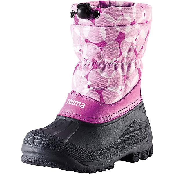 Ботинки Nefar  Reima для девочкиОбувь<br>Ботинки  Reimatec® Reima<br>Теплые сапоги для детей и малышей. Водоотталкивающая зимняя обувь с резиновыми галошами. Подошва из термопластичного каучука обеспечивает хорошее сцепление с поверхностью. Подкладка из искусственного меха. Легко надеваются на ноги. Отражатель на заднике. Снегозащитная манжета на воротнике. <br>Уход:<br>Храните обувь в вертикальном положении при комнатной температуре. Сушить обувь всегда следует при комнатной температуре: вынув съемные стельки. Стельки следует время от времени заменять на новые. Налипшую грязь можно счищать щеткой или влажной тряпкой. Перед использованием обувь рекомендуется обрабатывать специальными защитными средствами.<br>Состав:<br>Подошва: Термопластиковая резина, Верх: 80% ПЭ 20% Кожа<br>Ширина мм: 262; Глубина мм: 176; Высота мм: 97; Вес г: 427; Цвет: розовый; Возраст от месяцев: 24; Возраст до месяцев: 36; Пол: Женский; Возраст: Детский; Размер: 26,25,24,29,35,33,27,34,32,28,30,31; SKU: 4776796;