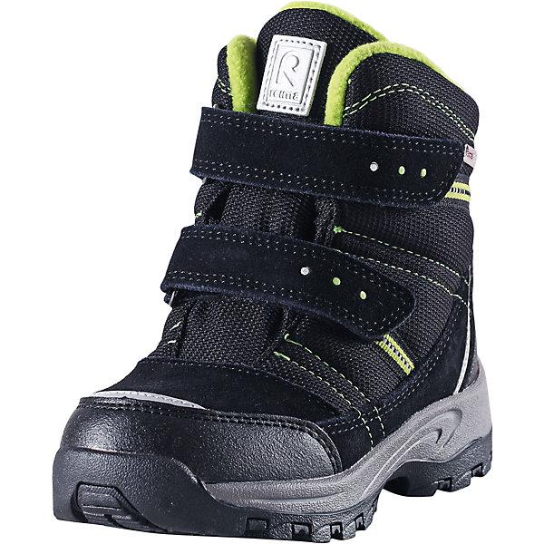 Ботинки Visby  Reimatec® Reima для мальчикаОбувь<br>Ботинки  Reimatec® Reima<br>Зимние сапоги для детей. Водонепроницаемая зимняя обувь. Верх из натуральной замши (из телячьей кожи), синтетического материала и текстиля. Эластичная и прочная резиновая подошва Reima® для максимальной устойчивости. Водонепроницаемая конструкция с герметичными вставками и подкладкой из искусственного меха. Подкладка из искусственного меха. Съемные стельки из войлока с рисунком Happy Fit, который помогает определить размер. Простая застежка на липучке, имеющая две точки крепления. Светоотражающие детали.<br>Уход:<br>Храните обувь в вертикальном положении при комнатной температуре. Сушить обувь всегда следует при комнатной температуре: вынув съемные стельки. Стельки следует время от времени заменять на новые. Налипшую грязь можно счищать щеткой или влажной тряпкой. Перед использованием обувь рекомендуется обрабатывать специальными защитными средствами.<br>Состав:<br>Подошва: 100% резина, Верх: 60% ПЭ, 20% ПУ, 20% Кожа<br><br>Ширина мм: 262<br>Глубина мм: 176<br>Высота мм: 97<br>Вес г: 427<br>Цвет: черный<br>Возраст от месяцев: 21<br>Возраст до месяцев: 24<br>Пол: Мужской<br>Возраст: Детский<br>Размер: 24,35,30,29,34,31,28,27,25,33,32,26<br>SKU: 4776879