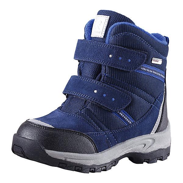 Ботинки Visby для мальчика Reimatec® ReimaОбувь<br>Ботинки  Reimatec® Reima<br>Зимние сапоги для детей. Водонепроницаемая зимняя обувь. Верх из натуральной замши (из телячьей кожи), синтетического материала и текстиля. Эластичная и прочная резиновая подошва Reima® для максимальной устойчивости. Водонепроницаемая конструкция с герметичными вставками и подкладкой из искусственного меха. Подкладка из искусственного меха. Съемные стельки из войлока с рисунком Happy Fit, который помогает определить размер. Простая застежка на липучке, имеющая две точки крепления. Светоотражающие детали.<br>Уход:<br>Храните обувь в вертикальном положении при комнатной температуре. Сушить обувь всегда следует при комнатной температуре: вынув съемные стельки. Стельки следует время от времени заменять на новые. Налипшую грязь можно счищать щеткой или влажной тряпкой. Перед использованием обувь рекомендуется обрабатывать специальными защитными средствами.<br>Состав:<br>Подошва: 100% резина, Верх: 60% ПЭ, 20% ПУ, 20% Кожа<br><br>Ширина мм: 262<br>Глубина мм: 176<br>Высота мм: 97<br>Вес г: 427<br>Цвет: синий<br>Возраст от месяцев: 21<br>Возраст до месяцев: 24<br>Пол: Мужской<br>Возраст: Детский<br>Размер: 35,34,31,33,26,27,24,29,28,25,32,30<br>SKU: 4776892