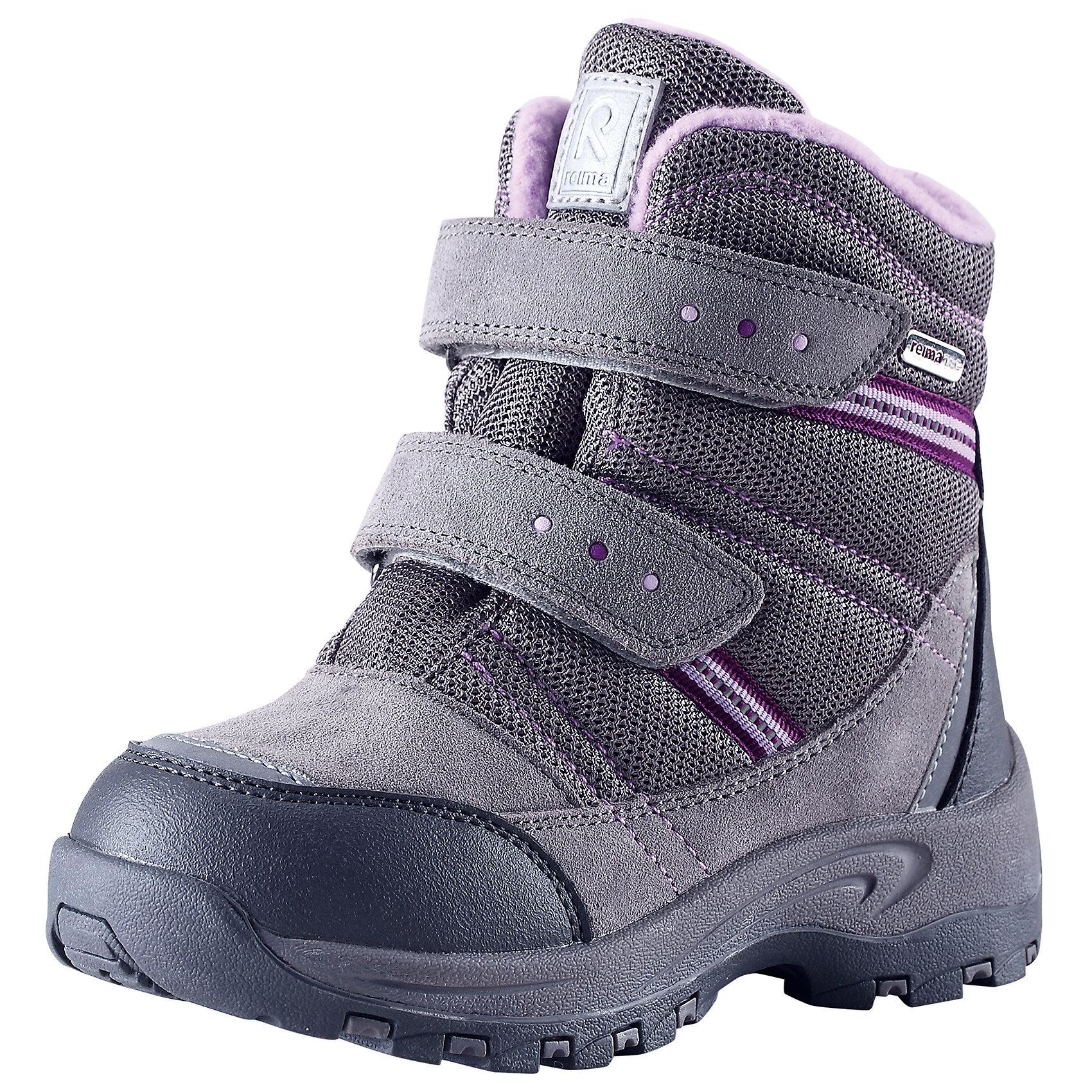 Ботинки Visby для девочки Reimatec® ReimaОбувь<br>Ботинки  Reimatec® Reima<br>Зимние сапоги для детей. Водонепроницаемая зимняя обувь. Верх из натуральной замши (из телячьей кожи), синтетического материала и текстиля. Эластичная и прочная резиновая подошва Reima® для максимальной устойчивости. Водонепроницаемая конструкция с герметичными вставками и подкладкой из искусственного меха. Подкладка из искусственного меха. Съемные стельки из войлока с рисунком Happy Fit, который помогает определить размер. Простая застежка на липучке, имеющая две точки крепления. Светоотражающие детали.<br>Уход:<br>Храните обувь в вертикальном положении при комнатной температуре. Сушить обувь всегда следует при комнатной температуре: вынув съемные стельки. Стельки следует время от времени заменять на новые. Налипшую грязь можно счищать щеткой или влажной тряпкой. Перед использованием обувь рекомендуется обрабатывать специальными защитными средствами.<br>Состав:<br>Подошва: 100% резина, Верх: 60% ПЭ, 20% ПУ, 20% Кожа<br><br>Ширина мм: 262<br>Глубина мм: 176<br>Высота мм: 97<br>Вес г: 427<br>Цвет: серый<br>Возраст от месяцев: 84<br>Возраст до месяцев: 96<br>Пол: Женский<br>Возраст: Детский<br>Размер: 31,35,32,27,29,28,24,30,26,34,33,25<br>SKU: 4776918