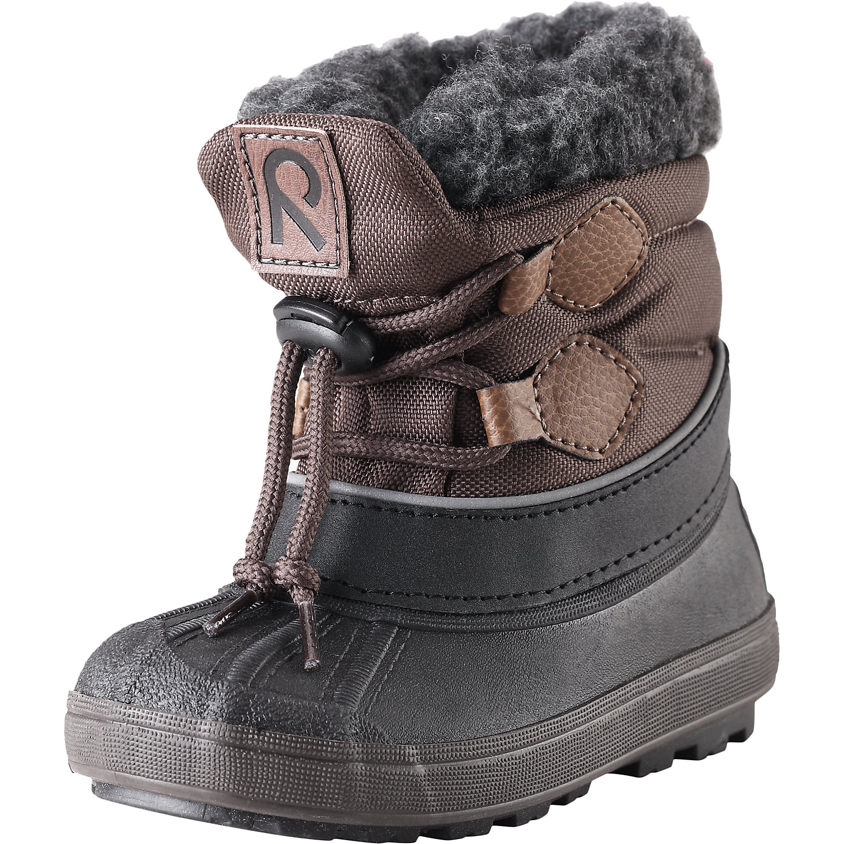 Сапоги Tirano для мальчика Reimatec® ReimaЗимние сапоги для мальчика Reimatec® от финской марки Reima.<br>Зимние сапоги для детей. Водоотталкивающая зимняя обувь с водонепроницаемыми галошами. Верх из водостойкого текстиля/микрофибры. Подошва из термопластичного каучука обеспечивает хорошее сцепление с поверхностью. Подкладка из смеси шерсти. Съемный носок. Сделано в Италии. Легкие и водонепроницаемые литые галоши. Алюминиевая стелька для улучшенной теплоизоляции. Светоотражающие детали. Без ПХВ.<br>Уход:<br>Храните обувь в вертикальном положении при комнатной температуре. Сушить обувь всегда следует при комнатной температуре: вынув съемные стельки. Стельки следует время от времени заменять на новые. Налипшую грязь можно счищать щеткой или влажной тряпкой. Перед использованием обувь рекомендуется обрабатывать специальными защитными средствами.<br>Состав:<br>Подошва: EVA, резина, верх: 90% ПЭ, 10% ПУ<br><br>Ширина мм: 262<br>Глубина мм: 176<br>Высота мм: 97<br>Вес г: 427<br>Цвет: коричневый<br>Возраст от месяцев: 9<br>Возраст до месяцев: 12<br>Пол: Мужской<br>Возраст: Детский<br>Размер: 32,24,22,20,30,26,28,34<br>SKU: 4776967