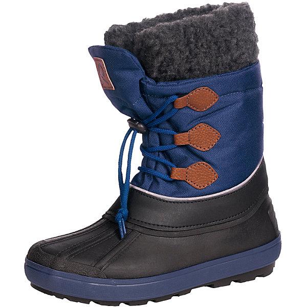 Сапоги Tirano для мальчика Reimatec® ReimaОбувь<br>Зимние сапоги для мальчика Reimatec® от финской марки Reima.<br>Зимние сапоги для детей. Водоотталкивающая зимняя обувь с водонепроницаемыми галошами. Верх из водостойкого текстиля/микрофибры. Подошва из термопластичного каучука обеспечивает хорошее сцепление с поверхностью. Подкладка из смеси шерсти. Съемный носок. Сделано в Италии. Легкие и водонепроницаемые литые галоши. Алюминиевая стелька для улучшенной теплоизоляции. Светоотражающие детали. Без ПХВ.<br>Уход:<br>Храните обувь в вертикальном положении при комнатной температуре. Сушить обувь всегда следует при комнатной температуре: вынув съемные стельки. Стельки следует время от времени заменять на новые. Налипшую грязь можно счищать щеткой или влажной тряпкой. Перед использованием обувь рекомендуется обрабатывать специальными защитными средствами.<br>Состав:<br>Подошва: EVA, резина, верх: 90% ПЭ, 10% ПУ<br><br>Ширина мм: 262<br>Глубина мм: 176<br>Высота мм: 97<br>Вес г: 427<br>Цвет: синий<br>Возраст от месяцев: 24<br>Возраст до месяцев: 36<br>Пол: Мужской<br>Возраст: Детский<br>Размер: 20,28,32,30,24,26,22,34<br>SKU: 4776985