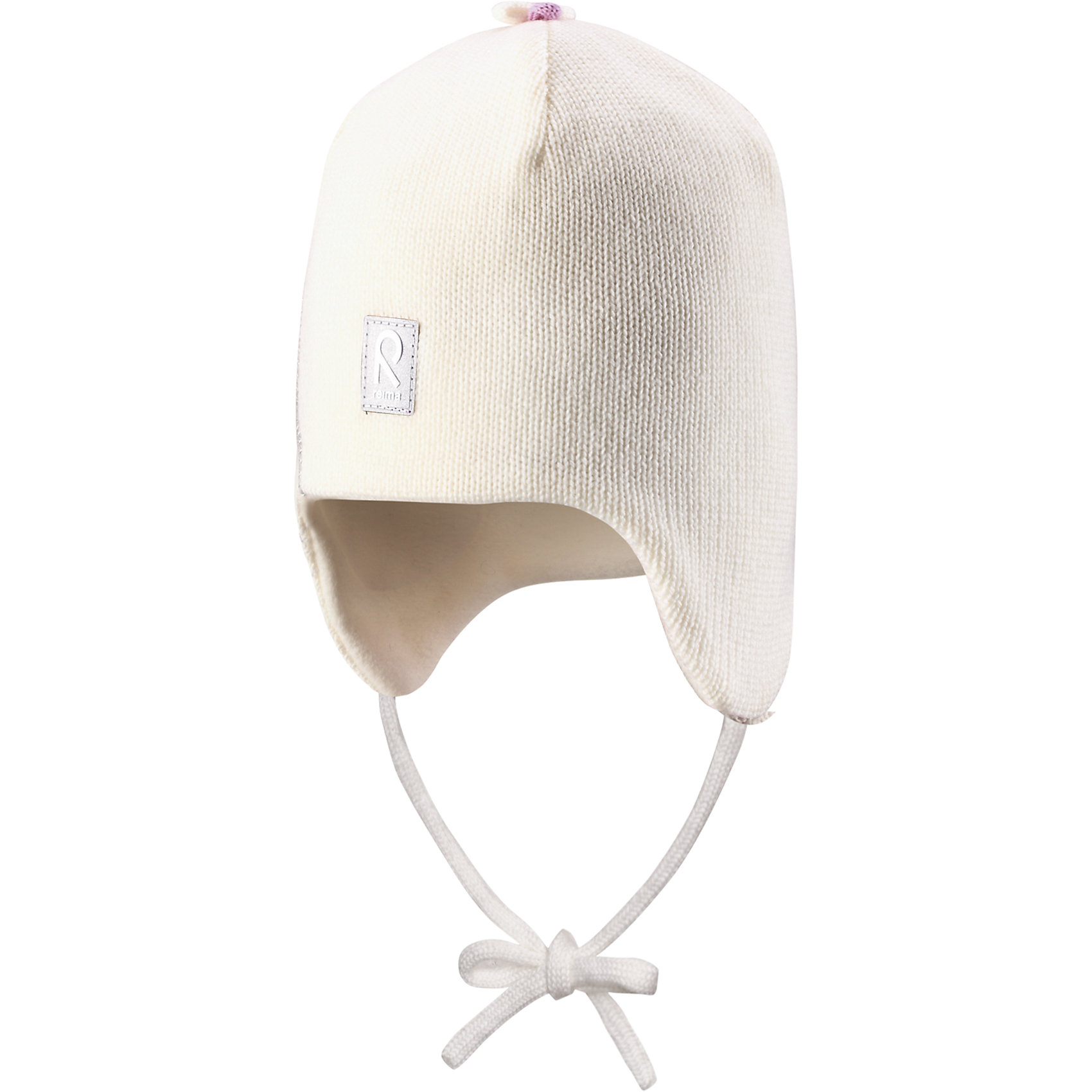 Шапка для девочки ReimaШапка для девочки Reima<br>Шапка «Бини» для малышей. Шерсть идеально поддерживает температуру. Теплая шерстяная вязка (волокно). Товар сертифицирован Oeko-Tex, класс 1, одежда для малышей. Ветронепроницаемые вставки в области ушей. Любые размеры. Мягкая теплая подкладка из поларфлиса. Логотип Reima® спереди. Милый вязаный узор. Декоративные элементы сверху. Светоотражающий элемент спереди.<br>Уход:<br>Стирать по отдельности, вывернув наизнанку. Придать первоначальную форму вo влажном виде. Возможна усадка 5 %.<br>Состав:<br>100% Шерсть<br><br>Ширина мм: 89<br>Глубина мм: 117<br>Высота мм: 44<br>Вес г: 155<br>Цвет: белый<br>Возраст от месяцев: 18<br>Возраст до месяцев: 36<br>Пол: Женский<br>Возраст: Детский<br>Размер: 46,48,52,50<br>SKU: 4777132