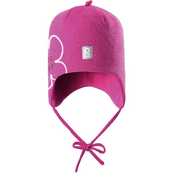Шапка Hapsu для девочки ReimaШапки и шарфы<br>Шапка для девочки Reima<br>Шапка «Бини» для малышей. Шерсть идеально поддерживает температуру. Теплая шерстяная вязка (волокно). Товар сертифицирован Oeko-Tex, класс 1, одежда для малышей. Ветронепроницаемые вставки в области ушей. Любые размеры. Мягкая теплая подкладка из поларфлиса. Логотип Reima® спереди. Милый вязаный узор. Декоративные элементы сверху. Светоотражающий элемент спереди.<br>Уход:<br>Стирать по отдельности, вывернув наизнанку. Придать первоначальную форму вo влажном виде. Возможна усадка 5 %.<br>Состав:<br>100% Шерсть<br>Ширина мм: 89; Глубина мм: 117; Высота мм: 44; Вес г: 155; Цвет: розовый; Возраст от месяцев: 6; Возраст до месяцев: 9; Пол: Женский; Возраст: Детский; Размер: 46,52,50,48; SKU: 4777137;