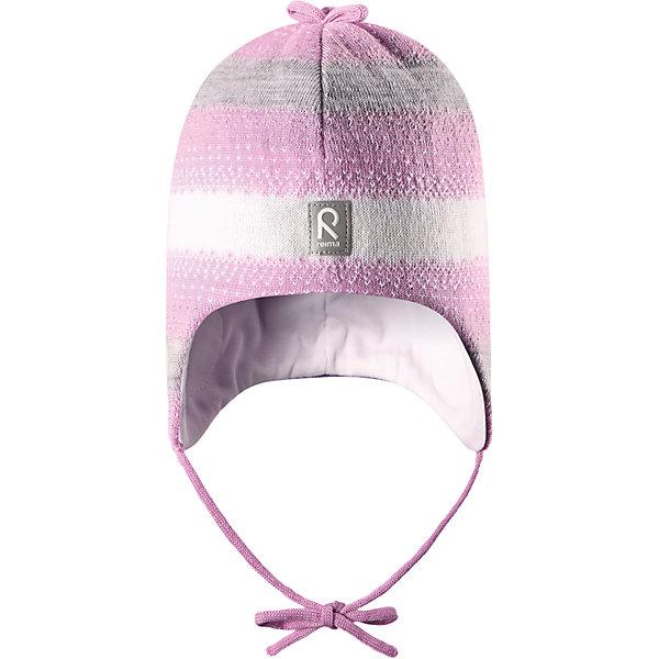 Шапка Pilvet для девочки ReimaШапки и шарфы<br>Шапка для девочки Reima<br>Шапка «Бини» для малышей. Мягкая ткань из мериносовой шерсти для поддержания идеальной температуры тела. Теплая шерстяная вязка (волокно). Товар сертифицирован Oeko-Tex, класс 1, одежда для малышей. Ветронепроницаемые вставки в области ушей. Любые размеры. Мягкая подкладка из хлопка и эластана. Логотип Reima® спереди. Узор из цветных полос. Декоративные элементы сверху. Светоотражающий элемент спереди.<br>Уход:<br>Стирать по отдельности, вывернув наизнанку. Придать первоначальную форму вo влажном виде. Возможна усадка 5 %.<br>Состав:<br>100% Шерсть<br>Ширина мм: 89; Глубина мм: 117; Высота мм: 44; Вес г: 155; Цвет: розовый; Возраст от месяцев: 9; Возраст до месяцев: 18; Пол: Женский; Возраст: Детский; Размер: 48,46,52,50; SKU: 4777172;