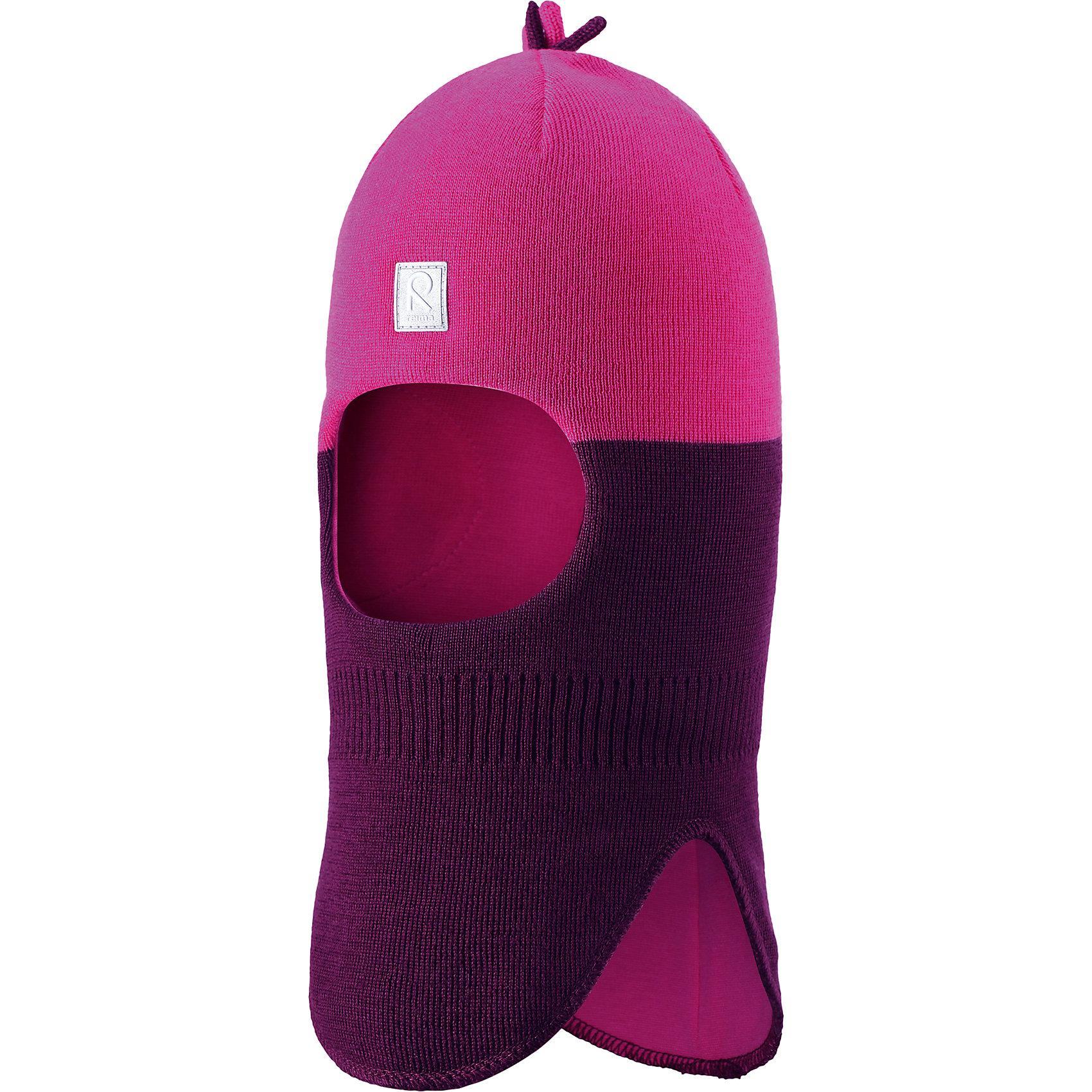 Шапка-шлем Myrsky для девочки ReimaШапки и шарфы<br>Шапка  Reima<br>Шапка-шлем для малышей. Мягкая ткань из смеси мериносовой шерсти для поддержания идеальной температуры тела. Ткань из смеси мериносовой шерсти сохраняет тепло даже при намокании. Ветронепроницаемые вставки в области ушей. Мягкая подкладка из хлопка и эластана. Логотип Reima® спереди. Веселый вязаный узор. Декоративные элементы сверху. Светоотражающий элемент спереди.<br>Утеплитель: Reima® Comfortinsulation,40 g<br>Уход:<br>Стирать по отдельности, вывернув наизнанку. Придать первоначальную форму вo влажном виде. Возможна усадка 5 %.<br>Состав:<br>50% Шерсть, 50% полиакрил<br><br>Ширина мм: 89<br>Глубина мм: 117<br>Высота мм: 44<br>Вес г: 155<br>Цвет: фиолетовый<br>Возраст от месяцев: 9<br>Возраст до месяцев: 18<br>Пол: Женский<br>Возраст: Детский<br>Размер: 48,46,52,50<br>SKU: 4777197