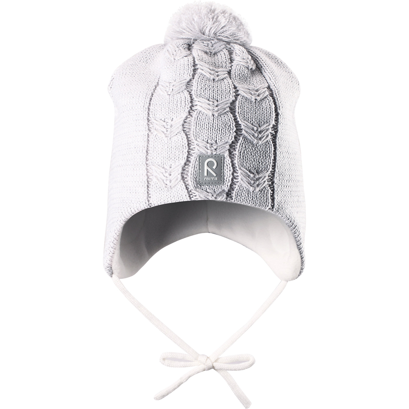 Шапка Piilossa для девочки ReimaШапки и шарфы<br>Шапка для девочки Reima<br>Шапка «Бини» для малышей. Мягкая ткань из мериносовой шерсти для поддержания идеальной температуры тела. Теплый толстый качественный трикотаж. Товар сертифицирован Oeko-Tex, класс 1, одежда для малышей. Ветронепроницаемые вставки в области ушей. Любые размеры. Мягкая теплая подкладка из поларфлиса. Логотип Reima® спереди. Помпон сверху. Интересная структура поверхности. Светоотражающий элемент спереди.<br>Уход:<br>Стирать по отдельности, вывернув наизнанку. Придать первоначальную форму вo влажном виде. Возможна усадка 5 %.<br>Состав:<br>100% Шерсть<br><br>Ширина мм: 89<br>Глубина мм: 117<br>Высота мм: 44<br>Вес г: 155<br>Цвет: белый<br>Возраст от месяцев: 6<br>Возраст до месяцев: 9<br>Пол: Женский<br>Возраст: Детский<br>Размер: 46,52,48,50<br>SKU: 4777217