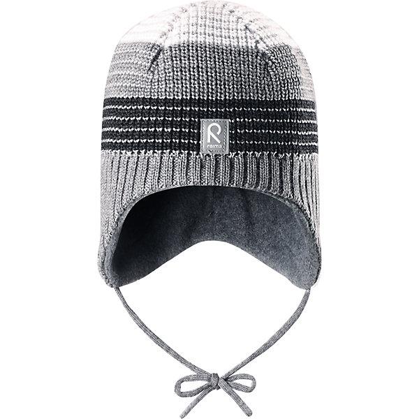 Шапка Tilava ReimaШапки и шарфы<br>Шапка  Reima<br>Шерстяная шапка «Бини» для детей и малышей. Мягкая ткань из мериносовой шерсти для поддержания идеальной температуры тела. Теплый толстый качественный трикотаж. Товар сертифицирован Oeko-Tex, класс 1, одежда для малышей. Ветронепроницаемые вставки в области ушей. Любые размеры. Мягкая теплая подкладка из поларфлиса. Скандинавский вязаный узор. Декоративные элементы сверху. Интересная структура поверхности. Светоотражающий элемент спереди.<br>Уход:<br>Стирать по отдельности, вывернув наизнанку. Придать первоначальную форму вo влажном виде. Возможна усадка 5 %.<br>Состав:<br>100% Шерсть<br>Ширина мм: 89; Глубина мм: 117; Высота мм: 44; Вес г: 155; Цвет: серый; Возраст от месяцев: 24; Возраст до месяцев: 60; Пол: Мужской; Возраст: Детский; Размер: 52,50,48,54; SKU: 4777272;