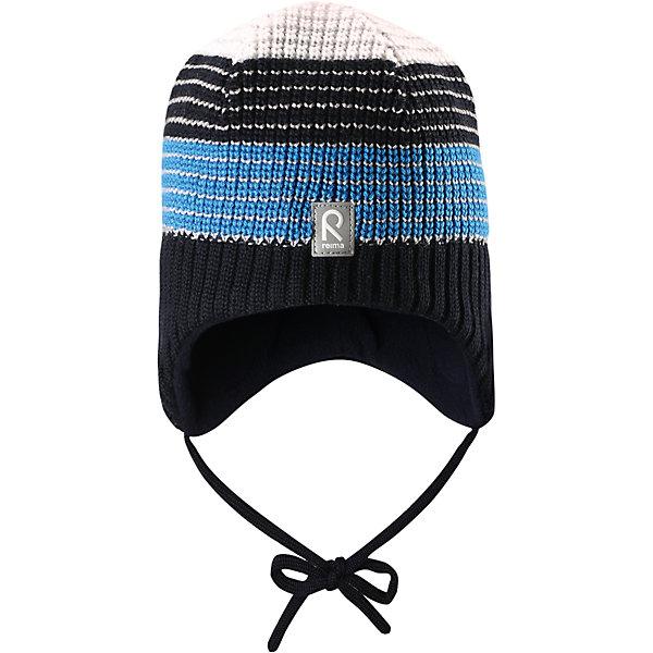 Шапка Tilava ReimaШапки и шарфы<br>Шапка  Reima<br>Шерстяная шапка «Бини» для детей и малышей. Мягкая ткань из мериносовой шерсти для поддержания идеальной температуры тела. Теплый толстый качественный трикотаж. Товар сертифицирован Oeko-Tex, класс 1, одежда для малышей. Ветронепроницаемые вставки в области ушей. Любые размеры. Мягкая теплая подкладка из поларфлиса. Скандинавский вязаный узор. Декоративные элементы сверху. Интересная структура поверхности. Светоотражающий элемент спереди.<br>Уход:<br>Стирать по отдельности, вывернув наизнанку. Придать первоначальную форму вo влажном виде. Возможна усадка 5 %.<br>Состав:<br>100% Шерсть<br><br>Ширина мм: 89<br>Глубина мм: 117<br>Высота мм: 44<br>Вес г: 155<br>Цвет: синий<br>Возраст от месяцев: 9<br>Возраст до месяцев: 18<br>Пол: Мужской<br>Возраст: Детский<br>Размер: 48,52,54,50<br>SKU: 4777277