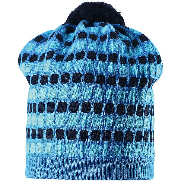 Шапка Silmukka для мальчика ReimaШапки и шарфы<br>Шапка для мальчика Reima<br>Шапка «Бини» для детей. Мягкая ткань из мериносовой шерсти для поддержания идеальной температуры тела. Мягкий, теплый и приятный на ощупь трикотаж. Товар сертифицирован Oeko-Tex, класс 2, нательное белье. Ветронепроницаемые вставки в области ушей. Сплошная подкладка: хлопчатобумажная ткань. Жаккардовый вязаный узор по всей поверхности. Веселые цветовые сочетания. Помпон сверху. Светоотражающий элемент сбоку.<br>Уход:<br>Стирать по отдельности, вывернув наизнанку. Придать первоначальную форму вo влажном виде. Возможна усадка 5 %.<br>Состав:<br>100% Шерсть<br><br>Ширина мм: 89<br>Глубина мм: 117<br>Высота мм: 44<br>Вес г: 155<br>Цвет: голубой<br>Возраст от месяцев: 18<br>Возраст до месяцев: 36<br>Пол: Мужской<br>Возраст: Детский<br>Размер: 50,56,52,54<br>SKU: 4777602