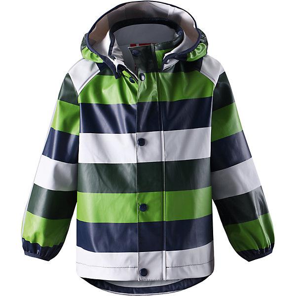 Плащ-дождевик Kupla ReimaВерхняя одежда<br>Плащ-дождевик  Reima<br>Куртка-дождевик для детей. Запаянные швы, не пропускающие влагу. Эластичный материал. Без ПХВ. Может пристегиваться к слоям Reima® кнопками Play Layers®. Безопасный, съемный капюшон. Эластичная резинка на кромке капюшона. Эластичные манжеты. Молния спереди. Принт по всей поверхности. Безопасные светоотражающие детали. Отличный вариант для дождливой погоды.<br>Уход:<br>Стирать по отдельности, вывернув наизнанку. Застегнуть молнии и липучки. Стирать моющим средством, не содержащим отбеливающие вещества. Полоскать без специального средства. Во избежание изменения цвета изделие необходимо вынуть из стиральной машинки незамедлительно после окончания программы стирки. Сушить при низкой температуре.<br>Состав:<br>100% Полиамид, полиуретановое покрытие<br><br>Ширина мм: 356<br>Глубина мм: 10<br>Высота мм: 245<br>Вес г: 519<br>Цвет: зеленый<br>Возраст от месяцев: 84<br>Возраст до месяцев: 96<br>Пол: Унисекс<br>Возраст: Детский<br>Размер: 128,86,116,92,98,104,134,110,140,122<br>SKU: 4777780