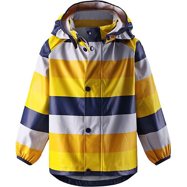 Плащ-дождевик Kupla ReimaНепромокаемая одежда<br>Плащ-дождевик  Reima<br>Куртка-дождевик для детей. Запаянные швы, не пропускающие влагу. Эластичный материал. Без ПХВ. Может пристегиваться к слоям Reima® кнопками Play Layers®. Безопасный, съемный капюшон. Эластичная резинка на кромке капюшона. Эластичные манжеты. Молния спереди. Принт по всей поверхности. Безопасные светоотражающие детали.<br>Уход:<br>Стирать по отдельности, вывернув наизнанку. Застегнуть молнии и липучки. Стирать моющим средством, не содержащим отбеливающие вещества. Полоскать без специального средства. Во избежание изменения цвета изделие необходимо вынуть из стиральной машинки незамедлительно после окончания программы стирки. Сушить при низкой температуре.<br>Состав:<br>100% Полиамид, полиуретановое покрытие<br>Ширина мм: 356; Глубина мм: 10; Высота мм: 245; Вес г: 519; Цвет: желтый; Возраст от месяцев: 24; Возраст до месяцев: 36; Пол: Унисекс; Возраст: Детский; Размер: 98,116,104,134,128,92,122,140,86,110; SKU: 4777813;