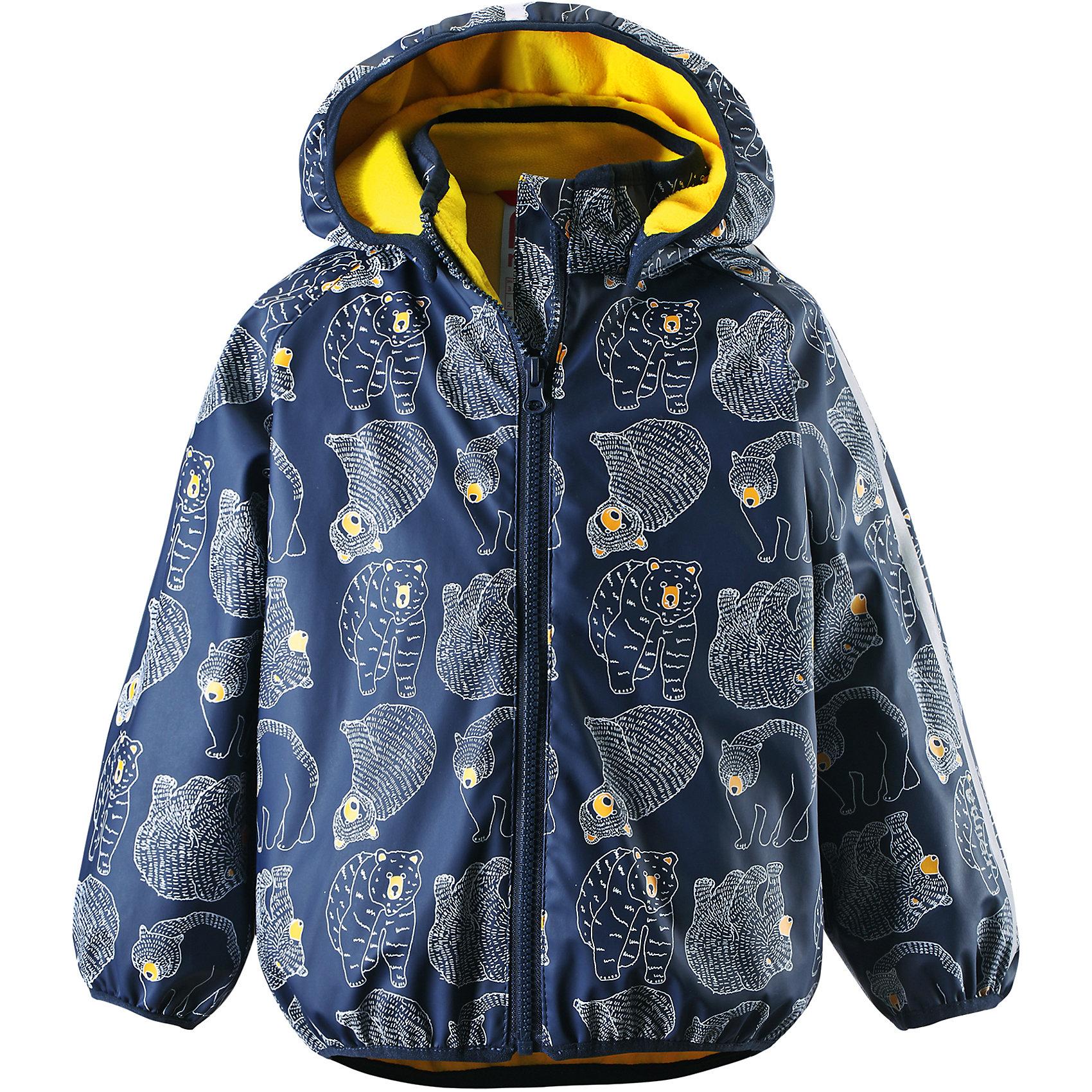 Плащ-дождевик Koski для мальчика ReimaПлащ-дождевик  Reima<br>Куртка-дождевик для детей. Запаянные швы, не пропускающие влагу. Эластичный материал. Без ПХВ. Мягкая теплая подкладка из флиса. Безопасный, съемный капюшон. Эластичная резинка на кромке капюшона, манжетах и подоле. Молния спереди. Принт по всей поверхности. Безопасные светоотражающие детали.<br>Уход:<br>Стирать по отдельности, вывернув наизнанку. Застегнуть молнии и липучки. Стирать моющим средством, не содержащим отбеливающие вещества. Полоскать без специального средства. Во избежание изменения цвета изделие необходимо вынуть из стиральной машинки незамедлительно после окончания программы стирки. Сушить при низкой температуре.<br>Состав:<br>100% Полиамид, полиуретановое покрытие<br><br>Ширина мм: 356<br>Глубина мм: 10<br>Высота мм: 245<br>Вес г: 519<br>Цвет: синий<br>Возраст от месяцев: 60<br>Возраст до месяцев: 72<br>Пол: Мужской<br>Возраст: Детский<br>Размер: 116,104,98,128,86,122,92,110<br>SKU: 4777824