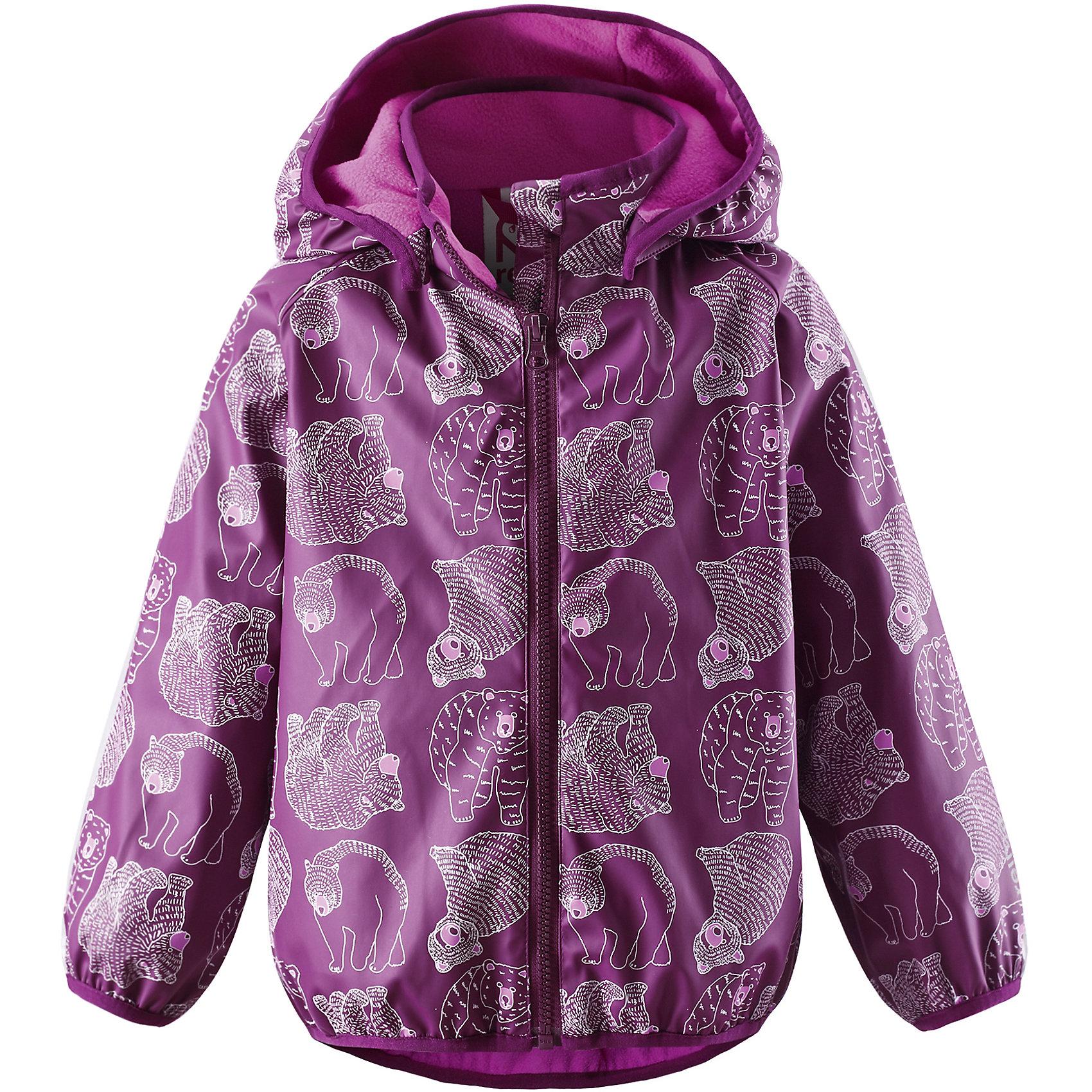 Плащ-дождевик Koski для девочки ReimaПлащ-дождевик  Reima<br>Куртка-дождевик для детей. Запаянные швы, не пропускающие влагу. Эластичный материал. Без ПХВ. Мягкая теплая подкладка из флиса. Безопасный, съемный капюшон. Эластичная резинка на кромке капюшона, манжетах и подоле. Молния спереди. Принт по всей поверхности. Безопасные светоотражающие детали.<br>Уход:<br>Стирать по отдельности, вывернув наизнанку. Застегнуть молнии и липучки. Стирать моющим средством, не содержащим отбеливающие вещества. Полоскать без специального средства. Во избежание изменения цвета изделие необходимо вынуть из стиральной машинки незамедлительно после окончания программы стирки. Сушить при низкой температуре.<br>Состав:<br>100% Полиамид, полиуретановое покрытие<br><br>Ширина мм: 356<br>Глубина мм: 10<br>Высота мм: 245<br>Вес г: 519<br>Цвет: розовый<br>Возраст от месяцев: 36<br>Возраст до месяцев: 48<br>Пол: Женский<br>Возраст: Детский<br>Размер: 104,110,122,98,128,86,116,92<br>SKU: 4777833