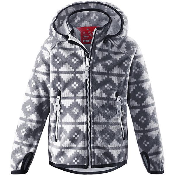 Куртка Ajatus  ReimaОдежда<br>Куртка  Reima<br>Куртка из материала softshell для детей. Из ветронепроницаемого материала, но изделие «дышит». Безопасный, съемный капюшон. Эластичная резинка на кромке капюшона, манжетах и подоле. Два кармана на молнии. Принт по всей поверхности.<br>Уход:<br>Стирать по отдельности. Застегнуть молнии и липучки. Стирать моющим средством, не содержащим отбеливающие вещества. Полоскать без специального средства. Во избежание изменения цвета изделие необходимо вынуть из стиральной машинки незамедлительно после окончания программы стирки. Сушить при низкой температуре.<br>Состав:<br>100% Полиэстер, полиуретановая мембрана<br>Ширина мм: 356; Глубина мм: 10; Высота мм: 245; Вес г: 519; Цвет: серый; Возраст от месяцев: 96; Возраст до месяцев: 108; Пол: Унисекс; Возраст: Детский; Размер: 134,128,110,104,116,122,140; SKU: 4777850;