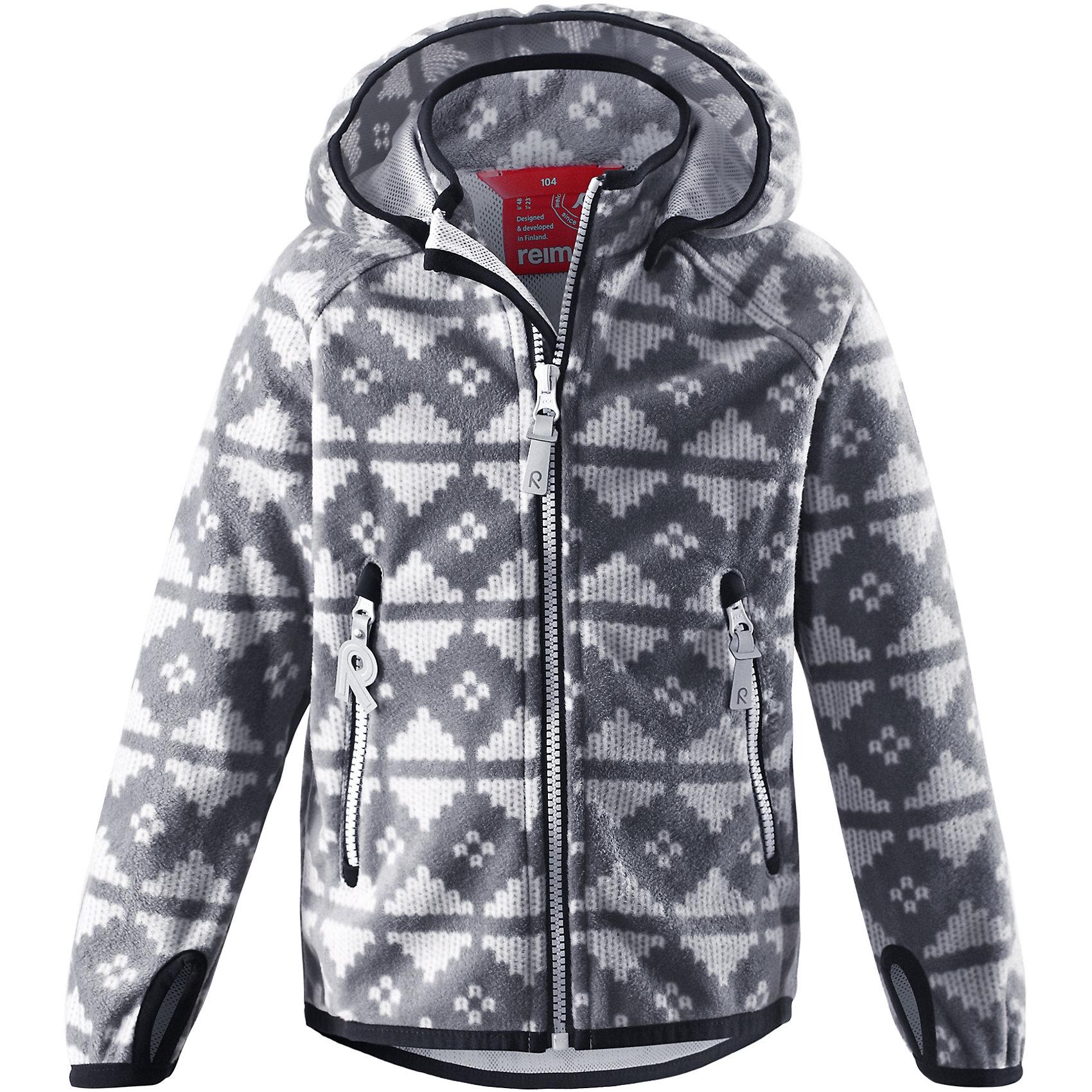 Куртка Ajatus  ReimaОдежда<br>Куртка  Reima<br>Куртка из материала softshell для детей. Из ветронепроницаемого материала, но изделие «дышит». Безопасный, съемный капюшон. Эластичная резинка на кромке капюшона, манжетах и подоле. Два кармана на молнии. Принт по всей поверхности.<br>Уход:<br>Стирать по отдельности. Застегнуть молнии и липучки. Стирать моющим средством, не содержащим отбеливающие вещества. Полоскать без специального средства. Во избежание изменения цвета изделие необходимо вынуть из стиральной машинки незамедлительно после окончания программы стирки. Сушить при низкой температуре.<br>Состав:<br>100% Полиэстер, полиуретановая мембрана<br><br>Ширина мм: 356<br>Глубина мм: 10<br>Высота мм: 245<br>Вес г: 519<br>Цвет: серый<br>Возраст от месяцев: 36<br>Возраст до месяцев: 48<br>Пол: Унисекс<br>Возраст: Детский<br>Размер: 104,110,128,140,122,116,134<br>SKU: 4777850