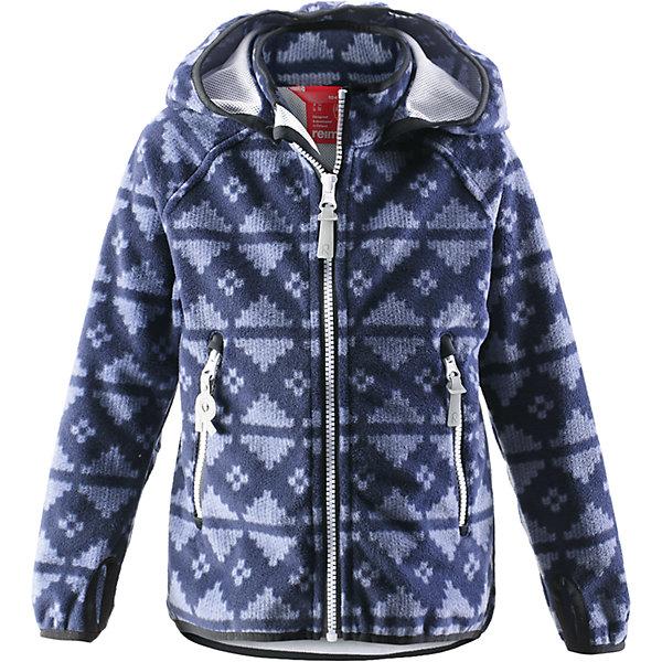 Куртка Ajatus для мальчика ReimaОдежда<br>Куртка  Reima<br>Куртка из материала softshell для детей. Из ветронепроницаемого материала, но изделие «дышит». Безопасный, съемный капюшон. Эластичная резинка на кромке капюшона, манжетах и подоле. Два кармана на молнии. Принт по всей поверхности.<br>Уход:<br>Стирать по отдельности. Застегнуть молнии и липучки. Стирать моющим средством, не содержащим отбеливающие вещества. Полоскать без специального средства. Во избежание изменения цвета изделие необходимо вынуть из стиральной машинки незамедлительно после окончания программы стирки. Сушить при низкой температуре.<br>Состав:<br>100% Полиэстер, полиуретановая мембрана<br><br>Ширина мм: 356<br>Глубина мм: 10<br>Высота мм: 245<br>Вес г: 519<br>Цвет: синий<br>Возраст от месяцев: 48<br>Возраст до месяцев: 60<br>Пол: Мужской<br>Возраст: Детский<br>Размер: 110,122,140,116,134,104,128<br>SKU: 4777858