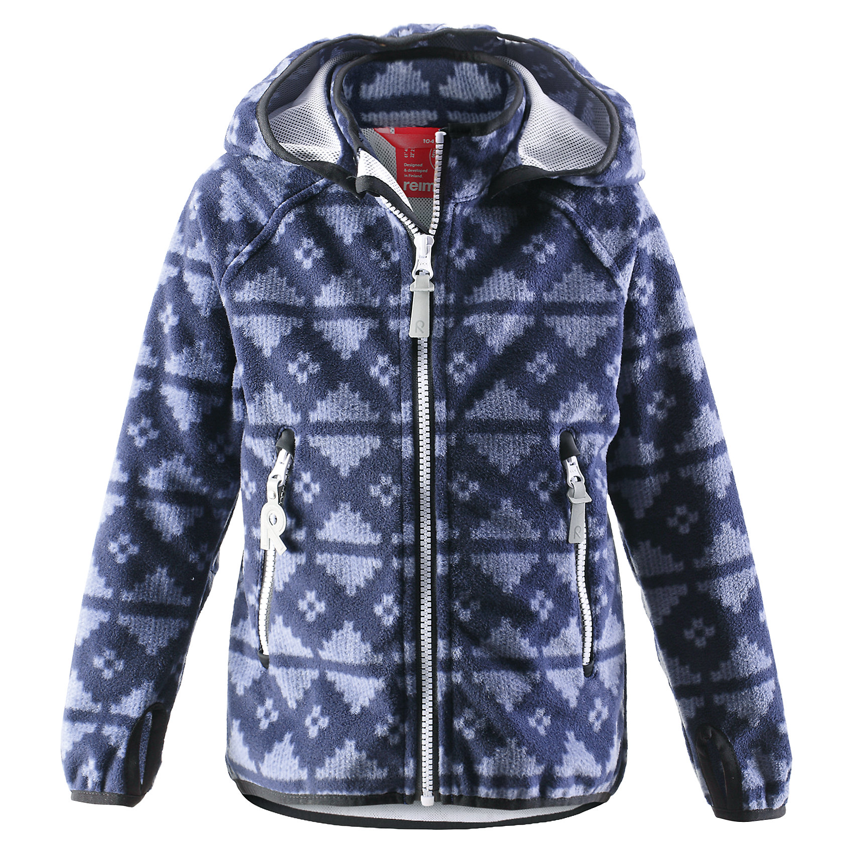 Куртка Ajatus для мальчика ReimaКуртка  Reima<br>Куртка из материала softshell для детей. Из ветронепроницаемого материала, но изделие «дышит». Безопасный, съемный капюшон. Эластичная резинка на кромке капюшона, манжетах и подоле. Два кармана на молнии. Принт по всей поверхности.<br>Уход:<br>Стирать по отдельности. Застегнуть молнии и липучки. Стирать моющим средством, не содержащим отбеливающие вещества. Полоскать без специального средства. Во избежание изменения цвета изделие необходимо вынуть из стиральной машинки незамедлительно после окончания программы стирки. Сушить при низкой температуре.<br>Состав:<br>100% Полиэстер, полиуретановая мембрана<br><br>Ширина мм: 356<br>Глубина мм: 10<br>Высота мм: 245<br>Вес г: 519<br>Цвет: синий<br>Возраст от месяцев: 72<br>Возраст до месяцев: 84<br>Пол: Мужской<br>Возраст: Детский<br>Размер: 122,140,104,128,134,110,116<br>SKU: 4777858