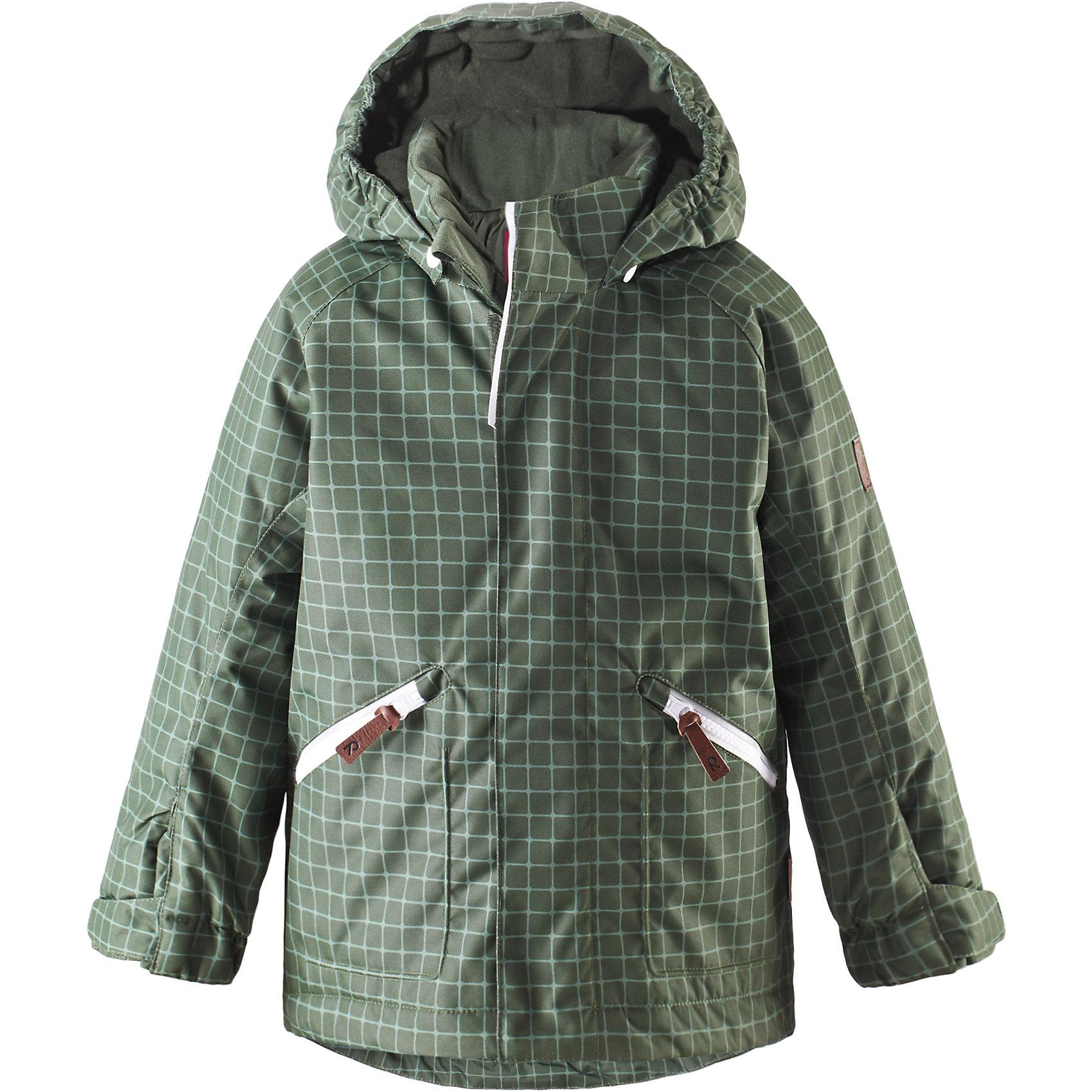 Куртка Nappaa для мальчика ReimaКуртка для мальчика Reima<br>Зимняя куртка для детей. Основные швы проклеены и не пропускают влагу. Водо- и ветронепроницаемый, «дышащий» и грязеотталкивающий материал. Гладкая подкладка из полиэстраБезопасный, съемный капюшон. Регулируемый манжет на липучке. Регулируемый подол. Два кармана на молнии. Безопасные светоотражающие детали.<br>Утеплитель: Reima® Soft Loft insulation,160 g<br>Уход:<br>Стирать по отдельности, вывернув наизнанку. Застегнуть молнии и липучки. Стирать моющим средством, не содержащим отбеливающие вещества. Полоскать без специального средства. Во избежание изменения цвета изделие необходимо вынуть из стиральной машинки незамедлительно после окончания программы стирки. Сушить при низкой температуре.<br>Состав:<br>100% Полиамид, полиуретановое покрытие<br><br>Ширина мм: 356<br>Глубина мм: 10<br>Высота мм: 245<br>Вес г: 519<br>Цвет: зеленый<br>Возраст от месяцев: 60<br>Возраст до месяцев: 72<br>Пол: Мужской<br>Возраст: Детский<br>Размер: 116,122,128,110,140,104,134<br>SKU: 4777866