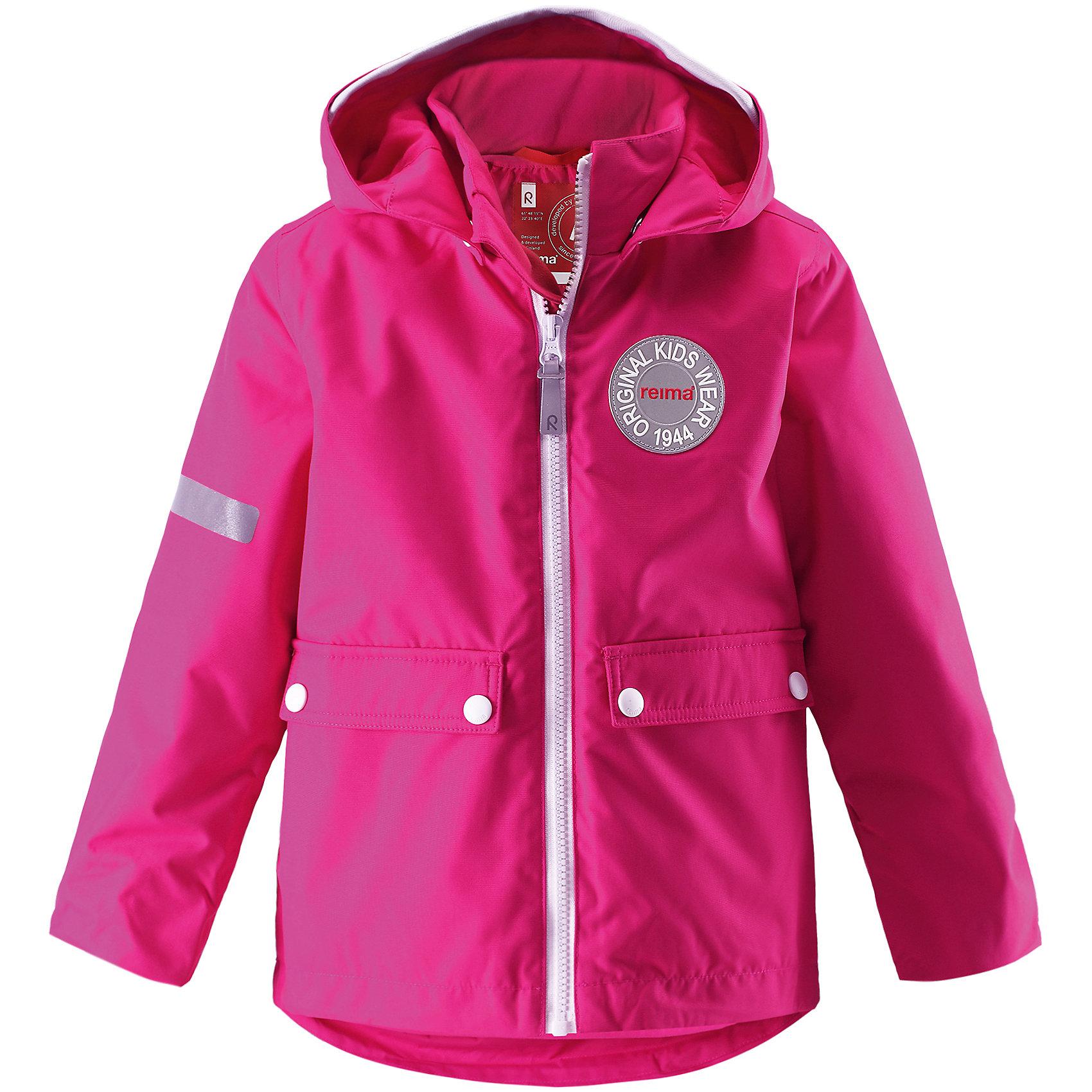 Куртка Taag для девочки ReimaОдежда<br>Куртка  Reima<br>Зимняя куртка для детей. Основные швы проклеены и не пропускают влагу. Водо- и ветронепроницаемый, «дышащий» и грязеотталкивающий материал. Съемная стеганная подкладка. Безопасный, съемный капюшон. Мягкая резинка на кромке капюшона и манжетах. Регулируемый подол. Два кармана с клапанами.<br>Утеплитель: Reima® Soft Loft insulation,160 g<br>Уход:<br>Стирать по отдельности, вывернув наизнанку. Застегнуть молнии и липучки. Стирать моющим средством, не содержащим отбеливающие вещества. Полоскать без специального средства. Во избежание изменения цвета изделие необходимо вынуть из стиральной машинки незамедлительно после окончания программы стирки. Сушить при низкой температуре. <br>Состав:<br>100% Полиамид, полиуретановое покрытие<br><br>Ширина мм: 356<br>Глубина мм: 10<br>Высота мм: 245<br>Вес г: 519<br>Цвет: розовый<br>Возраст от месяцев: 60<br>Возраст до месяцев: 72<br>Пол: Женский<br>Возраст: Детский<br>Размер: 116,98,122,140,104,110,134,92,128<br>SKU: 4777916