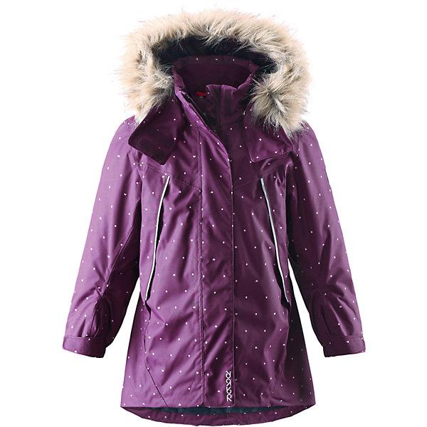 Куртка Muhvi для девочки Reimatec® ReimaОдежда<br>Куртка для девочки Reimatec® Reima<br>Зимняя куртка для детей. Все швы проклеены и водонепроницаемы. Водо- и ветронепроницаемый, «дышащий» и грязеотталкивающий материал. Крой для девочек. Гладкая подкладка из полиэстра. Безопасный отстегивающийся и регулируемый капюшон с отсоединяемой меховой каймой из искусственного меха. Регулируемый манжет на липучке. Эластичный пояс сзади. Удлиненный подол сзади. Регулируемый подол. Внутренний нагрудный карман. Два кармана на молнии. Принт по всей поверхности. Безопасные светоотражающие детали.<br>Утеплитель: Reima® Soft Loft insulation,160 g<br>Уход:<br>Стирать по отдельности, вывернув наизнанку. Перед стиркой отстегните искусственный мех. Застегнуть молнии и липучки. Стирать моющим средством, не содержащим отбеливающие вещества. Полоскать без специального средства. Во избежание изменения цвета изделие необходимо вынуть из стиральной машинки незамедлительно после окончания программы стирки. Можно сушить в сушильном шкафу или центрифуге (макс. 40° C).<br>Состав:<br>100% Полиамид, полиуретановое покрытие<br><br>Ширина мм: 356<br>Глубина мм: 10<br>Высота мм: 245<br>Вес г: 519<br>Цвет: лиловый<br>Возраст от месяцев: 24<br>Возраст до месяцев: 36<br>Пол: Женский<br>Возраст: Детский<br>Размер: 98,122,116,128,92,140,110,104,134<br>SKU: 4777936