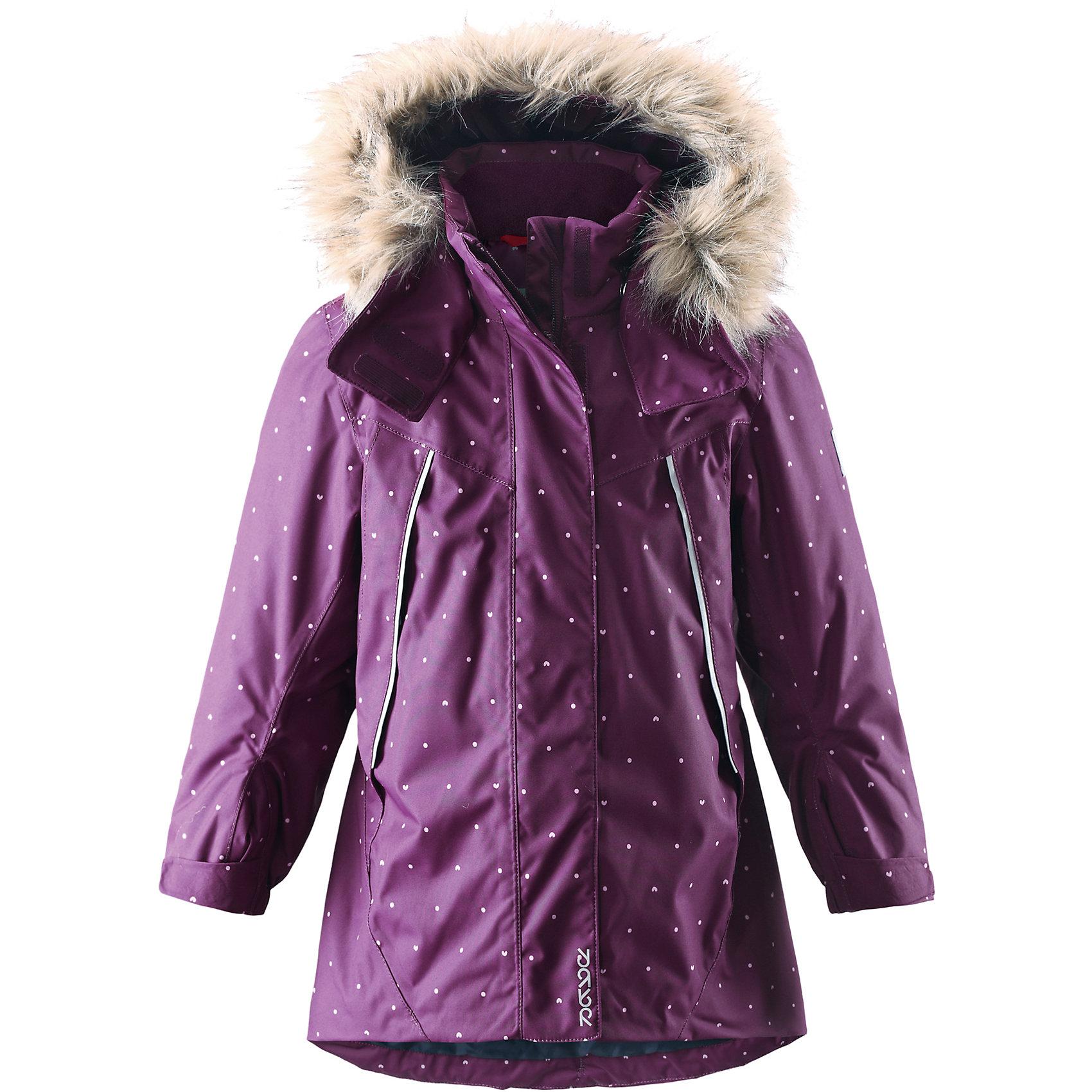 Куртка Muhvi для девочки Reimatec® ReimaКуртка для девочки Reimatec® Reima<br>Зимняя куртка для детей. Все швы проклеены и водонепроницаемы. Водо- и ветронепроницаемый, «дышащий» и грязеотталкивающий материал. Крой для девочек. Гладкая подкладка из полиэстра. Безопасный отстегивающийся и регулируемый капюшон с отсоединяемой меховой каймой из искусственного меха. Регулируемый манжет на липучке. Эластичный пояс сзади. Удлиненный подол сзади. Регулируемый подол. Внутренний нагрудный карман. Два кармана на молнии. Принт по всей поверхности. Безопасные светоотражающие детали.<br>Утеплитель: Reima® Soft Loft insulation,160 g<br>Уход:<br>Стирать по отдельности, вывернув наизнанку. Перед стиркой отстегните искусственный мех. Застегнуть молнии и липучки. Стирать моющим средством, не содержащим отбеливающие вещества. Полоскать без специального средства. Во избежание изменения цвета изделие необходимо вынуть из стиральной машинки незамедлительно после окончания программы стирки. Можно сушить в сушильном шкафу или центрифуге (макс. 40° C).<br>Состав:<br>100% Полиамид, полиуретановое покрытие<br><br>Ширина мм: 356<br>Глубина мм: 10<br>Высота мм: 245<br>Вес г: 519<br>Цвет: фиолетовый<br>Возраст от месяцев: 24<br>Возраст до месяцев: 36<br>Пол: Женский<br>Возраст: Детский<br>Размер: 98,134,122,116,128,92,140,110,104<br>SKU: 4777936