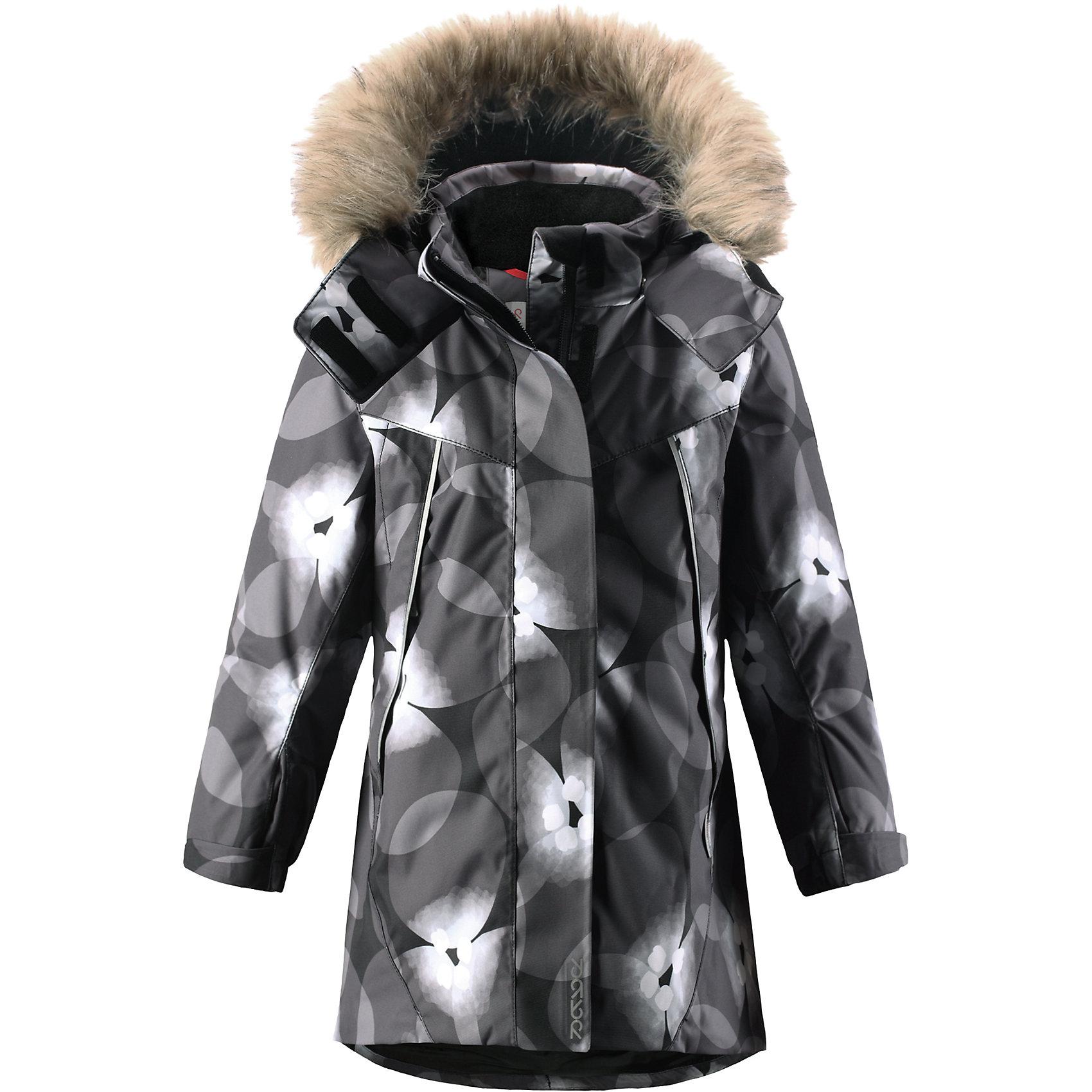 Куртка Muhvi для девочки Reimatec® ReimaОдежда<br>Куртка для девочки Reimatec® Reima<br>Зимняя куртка для детей. Все швы проклеены и водонепроницаемы. Водо- и ветронепроницаемый, «дышащий» и грязеотталкивающий материал. Крой для девочек. Гладкая подкладка из полиэстра. Безопасный отстегивающийся и регулируемый капюшон с отсоединяемой меховой каймой из искусственного меха. Регулируемый манжет на липучке. Эластичный пояс сзади. Удлиненный подол сзади. Регулируемый подол. Внутренний нагрудный карман. Два кармана на молнии. Принт по всей поверхности. Безопасные светоотражающие детали.<br>Утеплитель: Reima® Soft Loft insulation,160 g<br>Уход:<br>Стирать по отдельности, вывернув наизнанку. Перед стиркой отстегните искусственный мех. Застегнуть молнии и липучки. Стирать моющим средством, не содержащим отбеливающие вещества. Полоскать без специального средства. Во избежание изменения цвета изделие необходимо вынуть из стиральной машинки незамедлительно после окончания программы стирки. Можно сушить в сушильном шкафу или центрифуге (макс. 40° C).<br>Состав:<br>100% Полиамид, полиуретановое покрытие<br><br>Ширина мм: 356<br>Глубина мм: 10<br>Высота мм: 245<br>Вес г: 519<br>Цвет: черный<br>Возраст от месяцев: 24<br>Возраст до месяцев: 36<br>Пол: Женский<br>Возраст: Детский<br>Размер: 98,116,140,122,110,92,104,134,128<br>SKU: 4777946