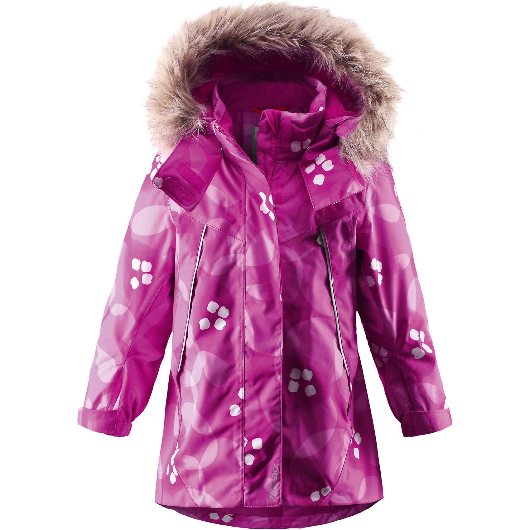 Куртка Muhvi для девочки Reimatec® ReimaОдежда<br>Куртка для девочки Reimatec® Reima<br>Зимняя куртка для детей. Все швы проклеены и водонепроницаемы. Водо- и ветронепроницаемый, «дышащий» и грязеотталкивающий материал. Крой для девочек. Гладкая подкладка из полиэстра. Безопасный отстегивающийся и регулируемый капюшон с отсоединяемой меховой каймой из искусственного меха. Регулируемый манжет на липучке. Эластичный пояс сзади. Удлиненный подол сзади. Регулируемый подол. Внутренний нагрудный карман. Два кармана на молнии. Принт по всей поверхности. Безопасные светоотражающие детали.<br>Утеплитель: Reima® Soft Loft insulation,160 g<br>Уход:<br>Стирать по отдельности, вывернув наизнанку. Перед стиркой отстегните искусственный мех. Застегнуть молнии и липучки. Стирать моющим средством, не содержащим отбеливающие вещества. Полоскать без специального средства. Во избежание изменения цвета изделие необходимо вынуть из стиральной машинки незамедлительно после окончания программы стирки. Можно сушить в сушильном шкафу или центрифуге (макс. 40° C).<br>Состав:<br>100% Полиамид, полиуретановое покрытие<br><br>Ширина мм: 356<br>Глубина мм: 10<br>Высота мм: 245<br>Вес г: 519<br>Цвет: розовый<br>Возраст от месяцев: 18<br>Возраст до месяцев: 24<br>Пол: Женский<br>Возраст: Детский<br>Размер: 92,140,98,134,122,128,116,110,104<br>SKU: 4777956