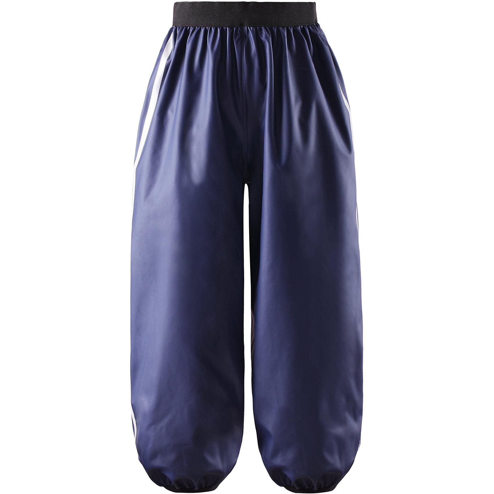 Непромокаемые брюки Oja для мальчика ReimaНепромокаемые брюки  для мальчика Reima.<br>Детские брюки для дождливой погоды. Запаянные швы, не пропускающие влагу. Эластичный материал. Без ПХВ. Эластичная талия. Съемные штрипки в размерах от 104 до 128 см. Безопасные светоотражающие детали. Отличный вариант для дождливой погоды.<br>Уход:<br>Стирать по отдельности, вывернув наизнанку. Стирать моющим средством, не содержащим отбеливающие вещества. Полоскать без специального средства. Во избежание изменения цвета изделие необходимо вынуть из стиральной машинки незамедлительно после окончания программы стирки. Сушить при низкой температуре.<br>Состав:<br>100% Полиамид, полиуретановое покрытие<br><br>Ширина мм: 215<br>Глубина мм: 88<br>Высота мм: 191<br>Вес г: 336<br>Цвет: синий<br>Возраст от месяцев: 84<br>Возраст до месяцев: 96<br>Пол: Мужской<br>Возраст: Детский<br>Размер: 128,134,104,110,122,116,140<br>SKU: 4777980