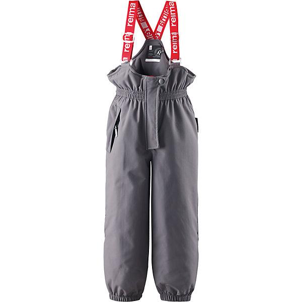 Брюки Juoni Reimatec® ReimaВерхняя одежда<br>Брюки  Reimatec® Reima<br>Зимние брюки для детей. Все швы проклеены и водонепроницаемы. Сверхпрочный материал. Водо- и ветронепроницаемый, «дышащий» и грязеотталкивающий материал. Гладкая подкладка из полиэстра. Сверхэластичный пояс. Регулируемая длина брюк с помощью кнопок. Прочные силиконовые штрипки. Ширинка на молнии. Карман на молнии. Регулируемые подтяжки. Безопасные светоотражающие детали.<br>Утеплитель: Reima® Comfortinsulation,120 g<br>Уход:<br>Стирать по отдельности, вывернув наизнанку. Застегнуть молнии и липучки. Стирать моющим средством, не содержащим отбеливающие вещества. Полоскать без специального средства. Во избежание изменения цвета изделие необходимо вынуть из стиральной машинки незамедлительно после окончания программы стирки. Можно сушить в сушильном шкафу или центрифуге (макс. 40° C).<br>Состав:<br>100% Полиамид, полиуретановое покрытие<br>Ширина мм: 215; Глубина мм: 88; Высота мм: 191; Вес г: 336; Цвет: серый; Возраст от месяцев: 36; Возраст до месяцев: 48; Пол: Унисекс; Возраст: Детский; Размер: 104,116,128,110,122,98; SKU: 4778036;