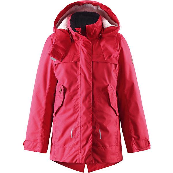 Куртка Tippa для девочки ReimaОдежда<br>Куртка для девочки Reima<br>Куртка для подростков. Основные швы проклеены и не пропускают влагу. Водо- и ветронепроницаемый, «дышащий» и грязеотталкивающий материал. Крой для девочек. Стеганая подкладка. Махровая подкладка на капюшоне. Безопасный, съемный капюшон. Регулируемый манжет на липучке. Внутренняя регулировка обхвата талии. Удлиненный подол сзади. Два кармана с клапанами. Безопасные светоотражающие детали. Петля для дополнительных светоотражающих деталей.<br>Утеплитель: Reima® Comfort+ insulation,140 g<br>Уход:<br>Стирать по отдельности, вывернув наизнанку. Застегнуть молнии и липучки. Стирать моющим средством, не содержащим отбеливающие вещества. Полоскать без специального средства. Во избежание изменения цвета изделие необходимо вынуть из стиральной машинки незамедлительно после окончания программы стирки. Сушить при низкой температуре.<br>Состав:<br>100% Полиамид, полиуретановое покрытие<br><br>Ширина мм: 356<br>Глубина мм: 10<br>Высота мм: 245<br>Вес г: 519<br>Цвет: красный<br>Возраст от месяцев: 36<br>Возраст до месяцев: 48<br>Пол: Женский<br>Возраст: Детский<br>Размер: 104,116,164,158,140,146,128,152,122,110,134<br>SKU: 4778207