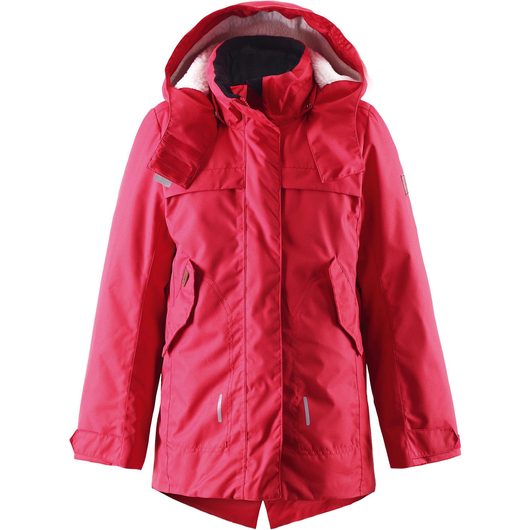Куртка Tippa для девочки ReimaОдежда<br>Куртка для девочки Reima<br>Куртка для подростков. Основные швы проклеены и не пропускают влагу. Водо- и ветронепроницаемый, «дышащий» и грязеотталкивающий материал. Крой для девочек. Стеганая подкладка. Махровая подкладка на капюшоне. Безопасный, съемный капюшон. Регулируемый манжет на липучке. Внутренняя регулировка обхвата талии. Удлиненный подол сзади. Два кармана с клапанами. Безопасные светоотражающие детали. Петля для дополнительных светоотражающих деталей.<br>Утеплитель: Reima® Comfort+ insulation,140 g<br>Уход:<br>Стирать по отдельности, вывернув наизнанку. Застегнуть молнии и липучки. Стирать моющим средством, не содержащим отбеливающие вещества. Полоскать без специального средства. Во избежание изменения цвета изделие необходимо вынуть из стиральной машинки незамедлительно после окончания программы стирки. Сушить при низкой температуре.<br>Состав:<br>100% Полиамид, полиуретановое покрытие<br><br>Ширина мм: 356<br>Глубина мм: 10<br>Высота мм: 245<br>Вес г: 519<br>Цвет: красный<br>Возраст от месяцев: 72<br>Возраст до месяцев: 84<br>Пол: Женский<br>Возраст: Детский<br>Размер: 122,158,164,116,134,110,104,152,128,146,140<br>SKU: 4778207