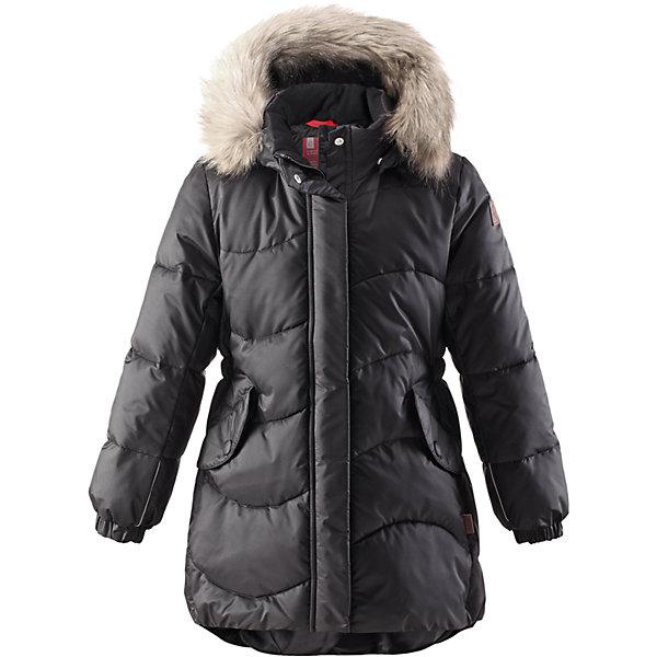 Пальто Sula для девочки ReimaОдежда<br>Пальто для девочки Reima<br>Зимняя куртка для подростков. Водоотталкивающий, ветронепроницаемый, «дышащий» и грязеотталкивающий материал. Крой для девочек. Гладкая подкладка из полиэстра. Имитация пуха. Безопасный съемный капюшон с отсоединяемой меховой каймой из искусственного меха. Эластичные манжеты. Эластичная талия. Два кармана с клапанами. Безопасные светоотражающие элементы. Петля для дополнительных светоотражающих деталей.<br>Утеплитель: Reima® Pearl insulation,170 g<br>Уход:<br>Стирать по отдельности, вывернув наизнанку. Перед стиркой отстегните искусственный мех. Застегнуть молнии и липучки. Стирать моющим средством, не содержащим отбеливающие вещества. Полоскать без специального средства. Во избежание изменения цвета изделие необходимо вынуть из стиральной машинки незамедлительно после окончания программы стирки. Сушить при низкой температуре.<br>Состав:<br>65% Полиамид, 35% Полиэстер, полиуретановое покрытие<br>Ширина мм: 356; Глубина мм: 10; Высота мм: 245; Вес г: 519; Цвет: черный; Возраст от месяцев: 36; Возраст до месяцев: 48; Пол: Женский; Возраст: Детский; Размер: 104,116,134,152,110,158,140,128,122,146,164; SKU: 4778267;