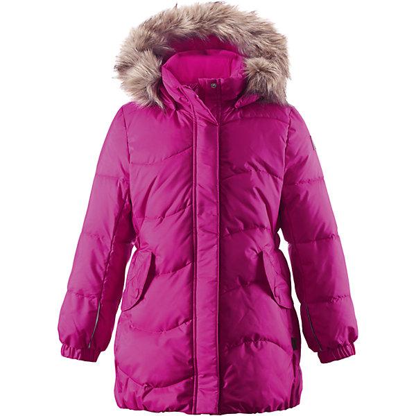 Пальто Sula для девочки ReimaОдежда<br>Пальто для девочки Reima<br>Зимняя куртка для подростков. Водоотталкивающий, ветронепроницаемый, «дышащий» и грязеотталкивающий материал. Крой для девочек. Гладкая подкладка из полиэстра. Имитация пуха Безопасный съемный капюшон с отсоединяемой меховой каймой из искусственного меха. Эластичные манжеты. Эластичная талия. Два кармана с клапанами. Безопасные светоотражающие элементы. Петля для дополнительных светоотражающих деталей.<br>Уход:<br>Стирать по отдельности, вывернув наизнанку. Перед стиркой отстегните искусственный мех. Застегнуть молнии и липучки. Стирать моющим средством, не содержащим отбеливающие вещества. Полоскать без специального средства. Во избежание изменения цвета изделие необходимо вынуть из стиральной машинки незамедлительно после окончания программы стирки. Сушить при низкой температуре.<br>Состав:<br>65% Полиамид, 35% Полиэстер, полиуретановое покрытие<br>Ширина мм: 356; Глубина мм: 10; Высота мм: 245; Вес г: 519; Цвет: розовый; Возраст от месяцев: 72; Возраст до месяцев: 84; Пол: Женский; Возраст: Детский; Размер: 122,158,152,104,140,116,164,128,134,110,146; SKU: 4778279;
