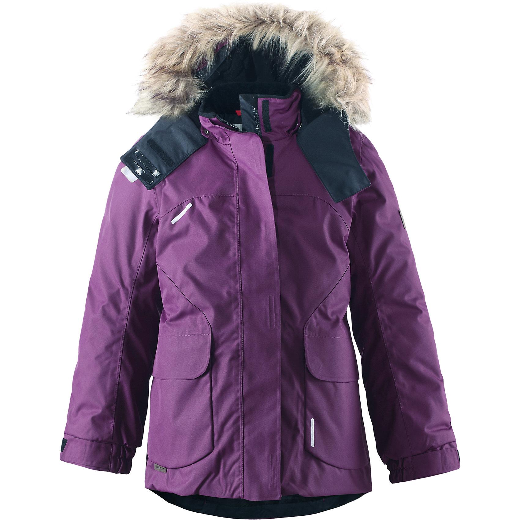 Куртка Sisarus для девочки Reimatec® ReimaКуртка для девочки Reimatec® Reima<br>Зимняя куртка для подростков. Все швы проклеены и водонепроницаемы. Водо- и ветронепроницаемый, «дышащий» и грязеотталкивающий материал. Крой для девочек. Гладкая подкладка из полиэстра. Безопасный съемный капюшон с отсоединяемой меховой каймой из искусственного меха. Регулируемый манжет на липучке.Эластичный пояс сзади. Два кармана с клапанами. .Логотип Reima® на рукаве. Безопасные светоотражающие детали. Петля для дополнительных светоотражающих деталей.<br>Утеплитель: Reima® Comfort+ insulation,160 g<br>Уход:<br>Стирать по отдельности, вывернув наизнанку. Перед стиркой отстегните искусственный мех. Застегнуть молнии и липучки. Стирать моющим средством, не содержащим отбеливающие вещества. Полоскать без специального средства. Во избежание изменения цвета изделие необходимо вынуть из стиральной машинки незамедлительно после окончания программы стирки. Можно сушить в сушильном шкафу или центрифуге (макс. 40° C).<br>Состав:<br>100% Полиамид, полиуретановое покрытие<br><br>Ширина мм: 356<br>Глубина мм: 10<br>Высота мм: 245<br>Вес г: 519<br>Цвет: фиолетовый<br>Возраст от месяцев: 96<br>Возраст до месяцев: 108<br>Пол: Женский<br>Возраст: Детский<br>Размер: 134,158,152,164,104,116,110,128,122,140,146<br>SKU: 4778399