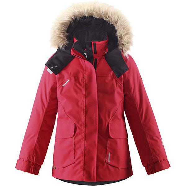 Куртка Sisarus для девочки Reimatec® ReimaОдежда<br>Куртка для девочки Reimatec® Reima<br>Зимняя куртка для подростков. Все швы проклеены и водонепроницаемы. Водо- и ветронепроницаемый, «дышащий» и грязеотталкивающий материал. Крой для девочек. Гладкая подкладка из полиэстра. Безопасный съемный капюшон с отсоединяемой меховой каймой из искусственного меха. Регулируемый манжет на липучке.Эластичный пояс сзади. Два кармана с клапанами. .Логотип Reima® на рукаве. Безопасные светоотражающие детали. Петля для дополнительных светоотражающих деталей.<br>Утеплитель: Reima® Comfort+ insulation,160 g<br>Уход:<br>Стирать по отдельности, вывернув наизнанку. Перед стиркой отстегните искусственный мех. Застегнуть молнии и липучки. Стирать моющим средством, не содержащим отбеливающие вещества. Полоскать без специального средства. Во избежание изменения цвета изделие необходимо вынуть из стиральной машинки незамедлительно после окончания программы стирки. Можно сушить в сушильном шкафу или центрифуге (макс. 40° C).<br>Состав:<br>100% Полиамид, полиуретановое покрытие<br><br>Ширина мм: 356<br>Глубина мм: 10<br>Высота мм: 245<br>Вес г: 519<br>Цвет: красный<br>Возраст от месяцев: 36<br>Возраст до месяцев: 48<br>Пол: Женский<br>Возраст: Детский<br>Размер: 104,158,122,110,116,152,134,146,128,140,164<br>SKU: 4778411