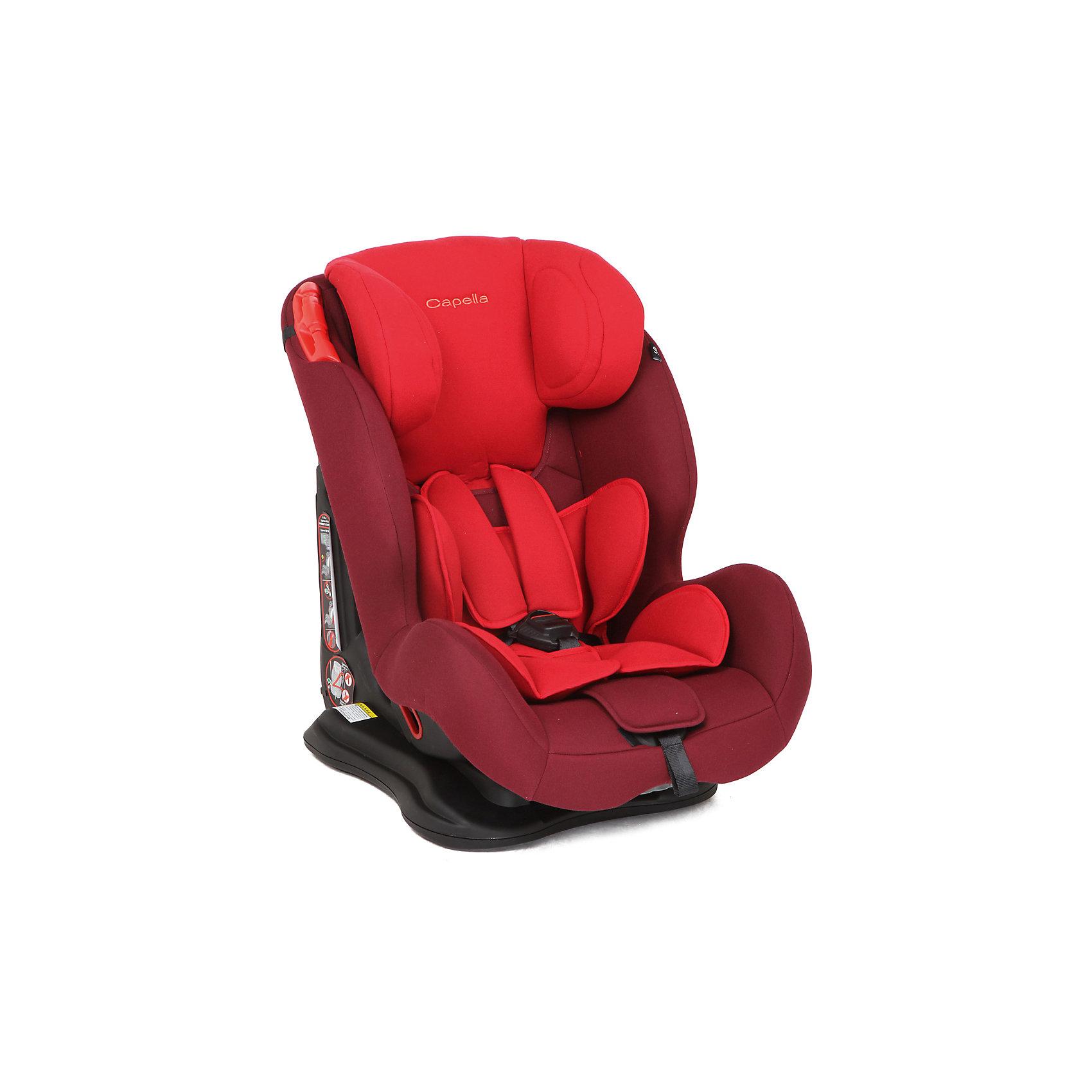 Автокресло CAPELLA 9-36 кг. , Chili Pepper, красный/малиновыйГруппа 1-2-3 (От 9 до 36 кг)<br>Автокресло - необходимый атрибут современной семьи, в которой есть машина. Это высокотехнологичное надежное автокресло позволит перевозить ребенка, не беспокоясь при этом о его безопасности. Оно предназначено для предназначено для детей весом от 9 до 36 килограмм. Такое кресло обеспечит малышу не только безопасность, но и удобство (регулируемые ремни безопасности и анатомическая форма). Ребенок надежно фиксируется в кресле и ездит с комфортом.<br>Автокресло устанавливают по ходу движения. Такое кресло дает возможность свободно путешествовать, ездить в гости и при этом  быть рядом с малышом. Конструкция - очень удобная и прочная. Изделие произведено из качественных и безопасных для малышей материалов, оно соответствуют всем современным требованиям безопасности. Оно отлично показало себя на краш-тестах.<br> <br>Дополнительная информация:<br><br>цвет: красный;<br>материал: текстиль, пластик;<br>вес ребенка:  от 9 до 36 кг;<br>вес кресла: 8,5 кг;<br>внутренние ремни - пятиточечные;<br>широкая мягкая спинка;<br>анатомичная форма;<br>регулировка высоты подголовника;<br>дополнительная защита от боковых ударов;<br>съемный чехол;<br>соответствие стандартам ECE R44/04.<br><br>Автокресло 9-36 кг., Chili Pepper, красный/малиновый от компании CAPELLA можно купить в нашем магазине.<br><br>Ширина мм: 820<br>Глубина мм: 530<br>Высота мм: 450<br>Вес г: 8500<br>Возраст от месяцев: 12<br>Возраст до месяцев: 144<br>Пол: Женский<br>Возраст: Детский<br>SKU: 4778444
